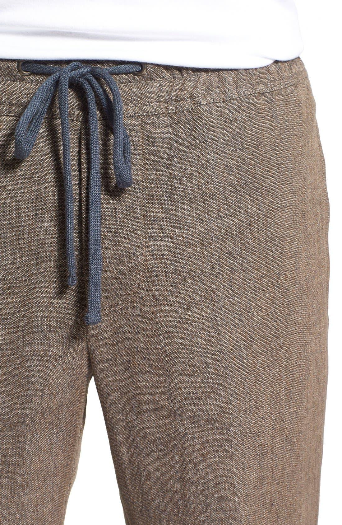 'Delave' Drawstring Linen Pants,                             Alternate thumbnail 4, color,                             207