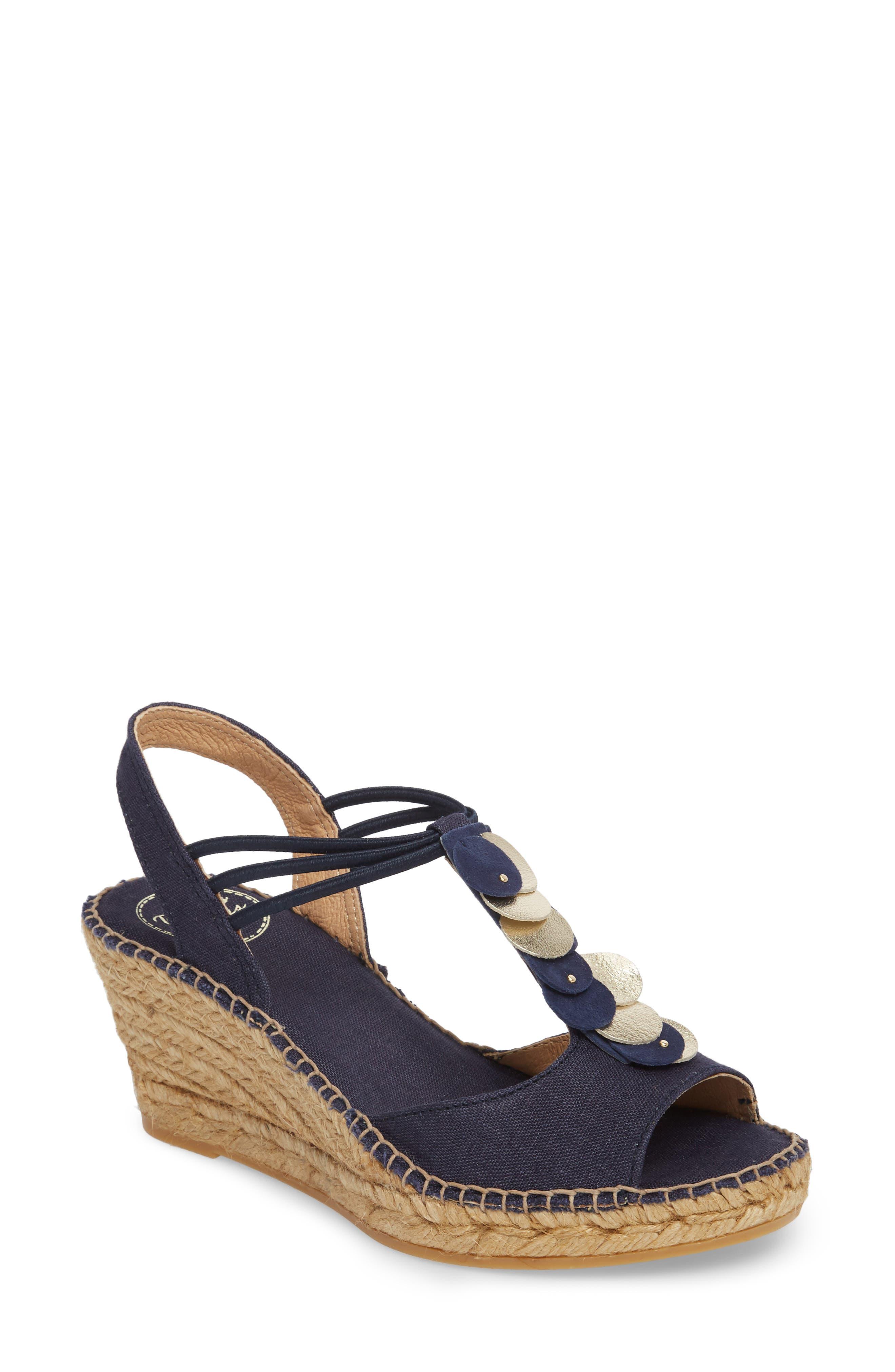 Sitges Espadrille Sandal,                         Main,                         color, NAVY FABRIC