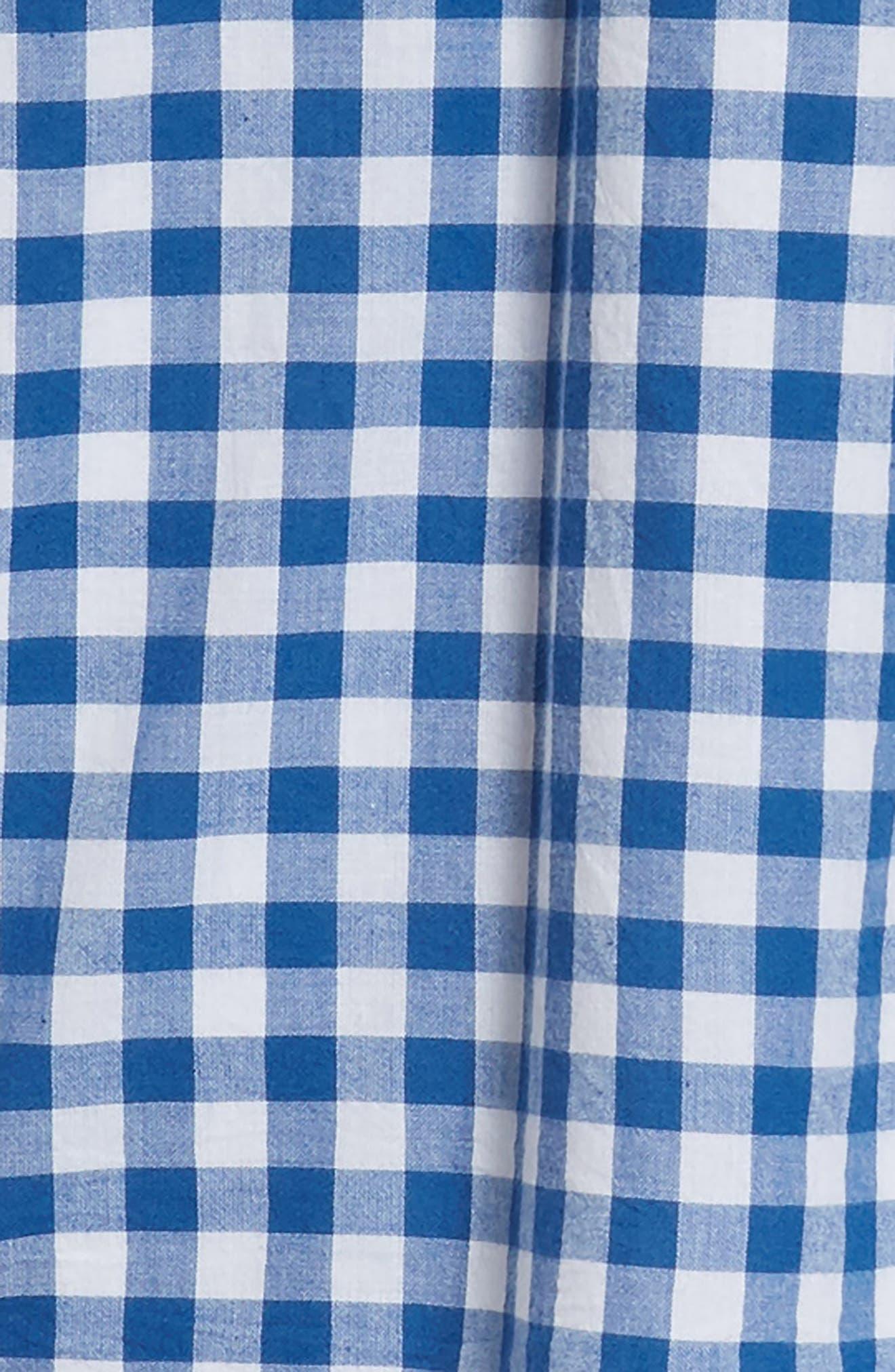 Cold Shoulder Gingham Shift Dress,                             Alternate thumbnail 3, color,