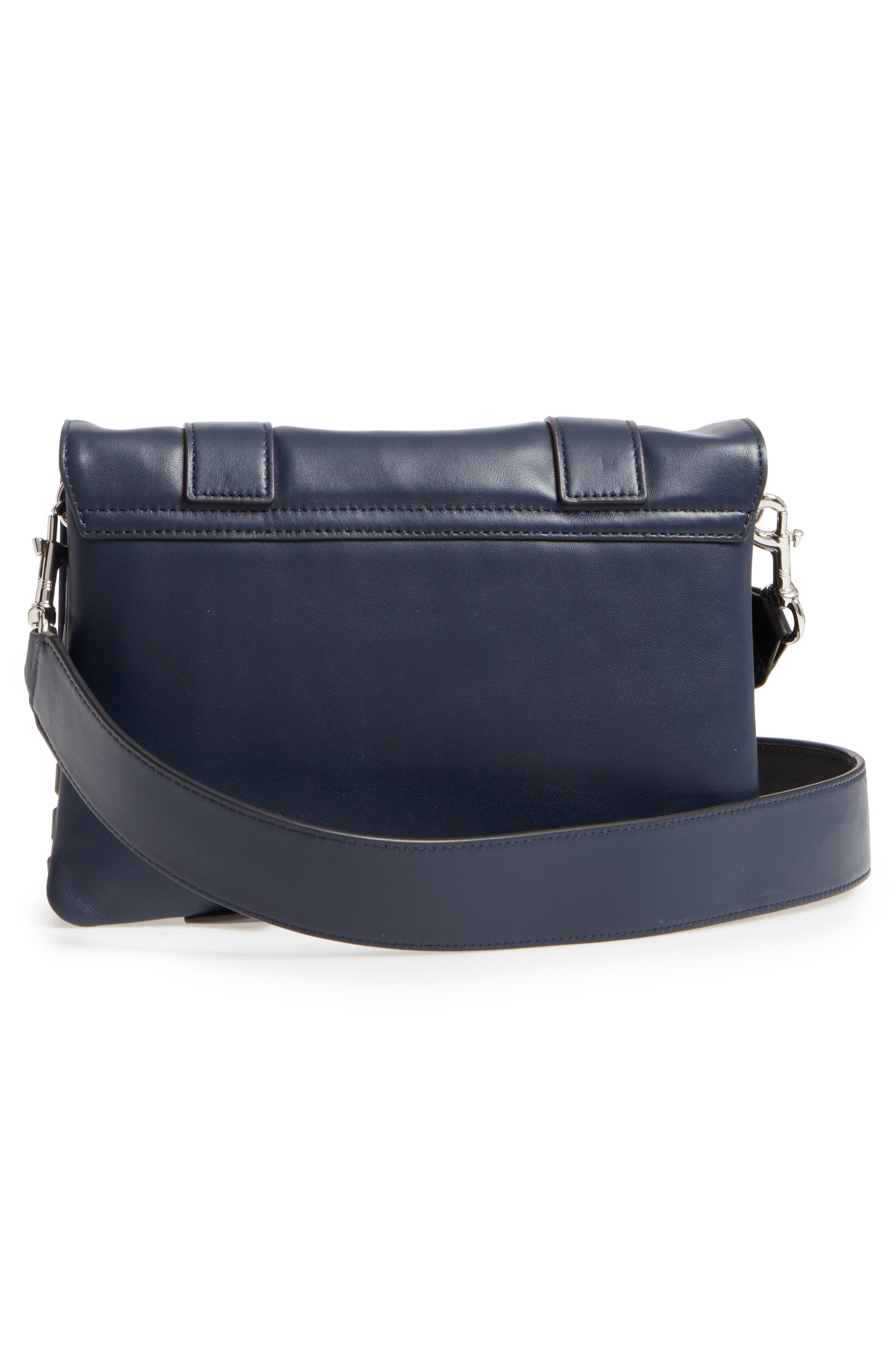 Fin Lambskin Leather Messenger Bag,                             Alternate thumbnail 6, color,