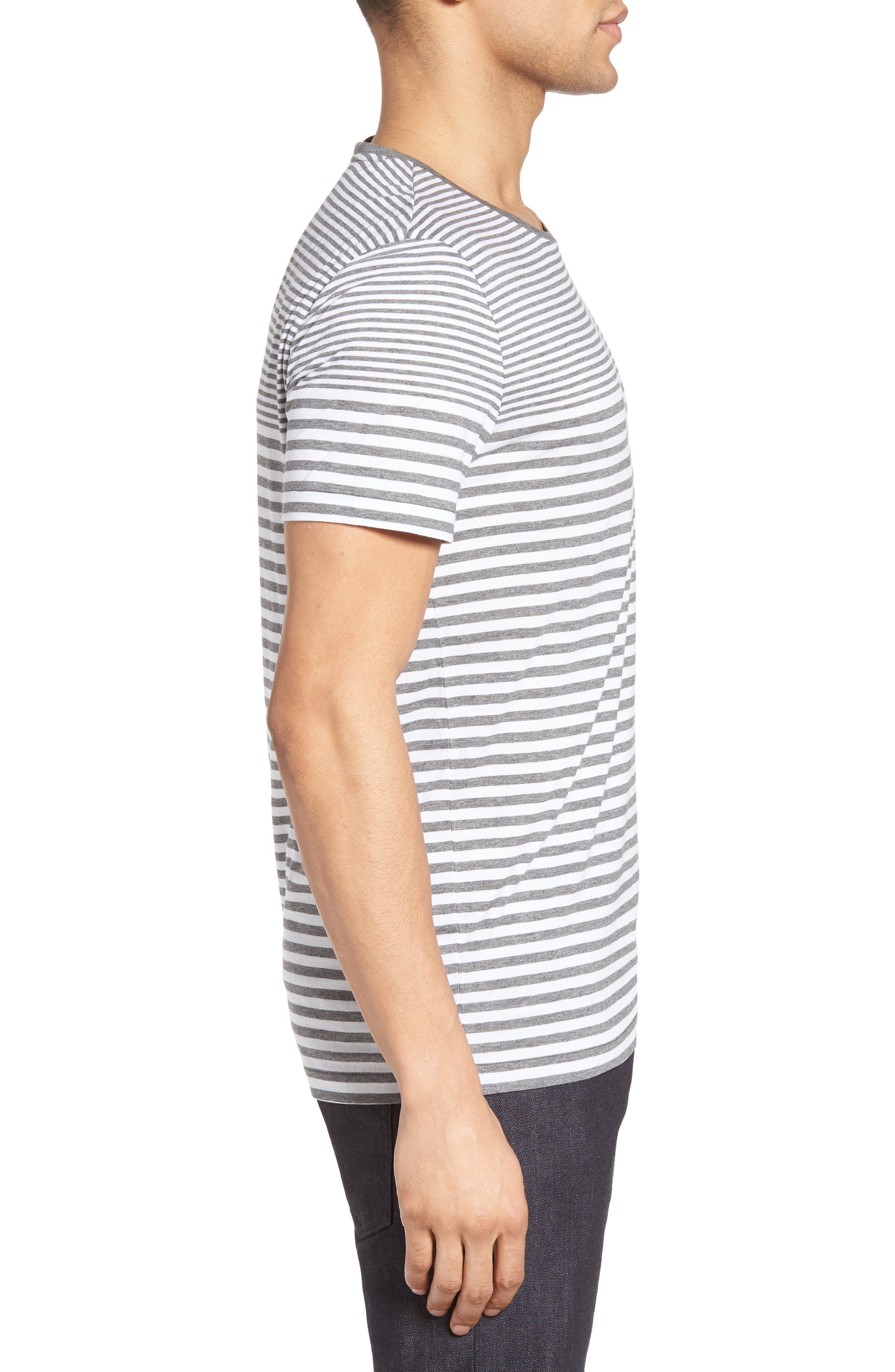 Tessler Slim Fit Stripe T-Shirt,                             Alternate thumbnail 3, color,                             030