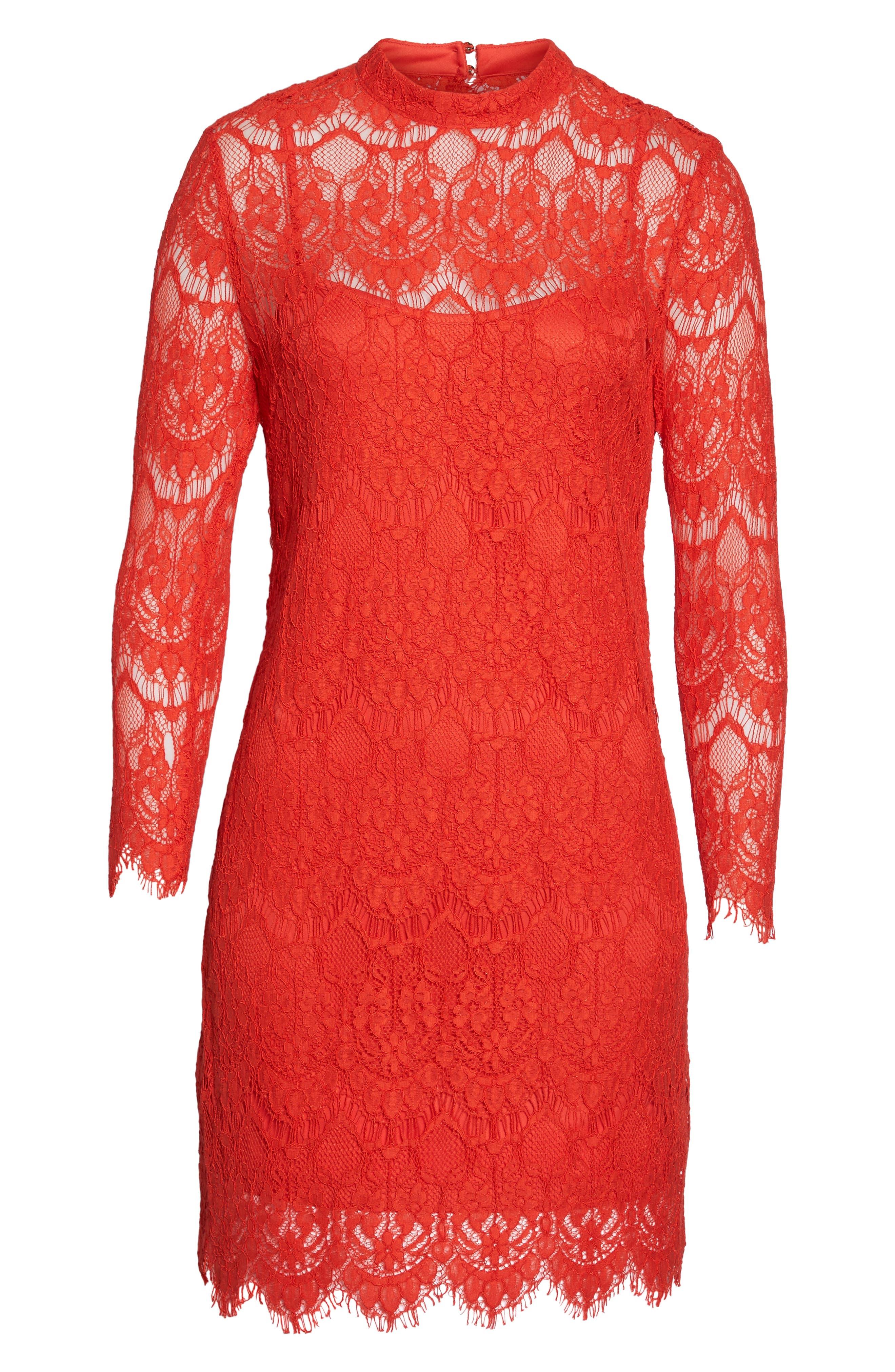Lace Sheath Dress,                             Alternate thumbnail 6, color,                             640
