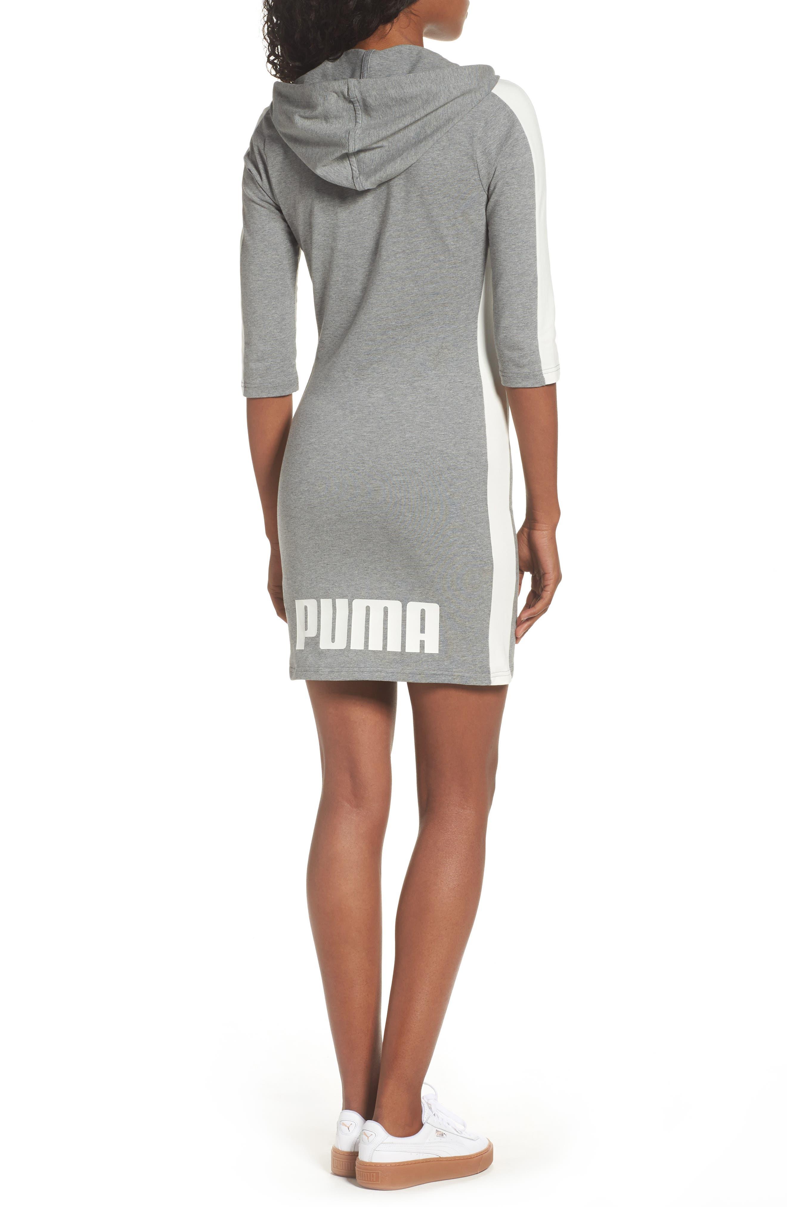 T7 Sweatshirt Dress,                             Alternate thumbnail 8, color,
