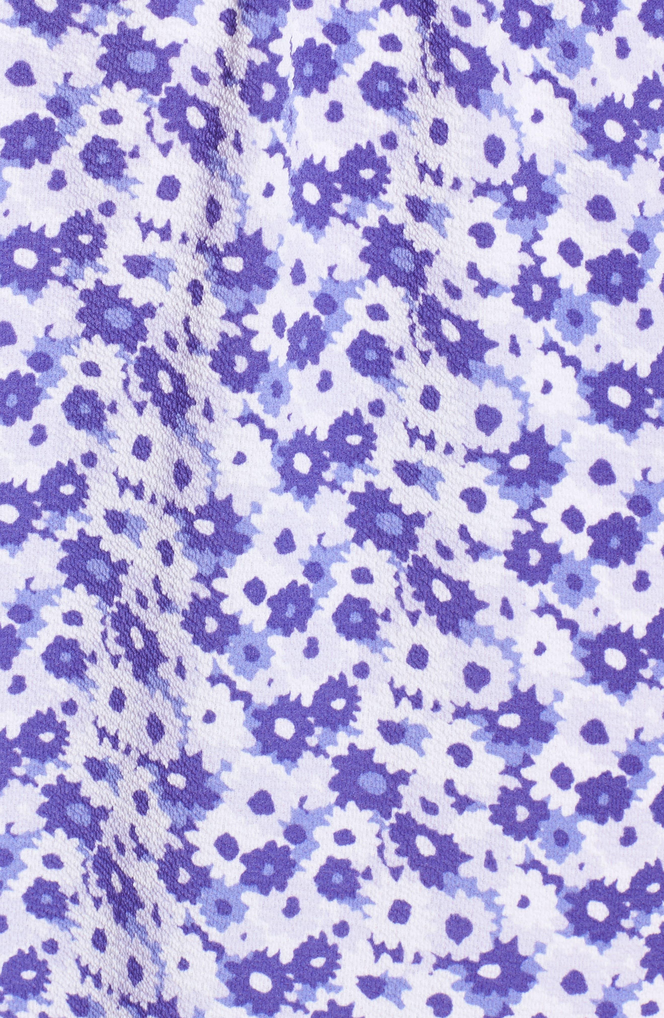 Ruffle Cold Shoulder Dress,                             Alternate thumbnail 5, color,                             580