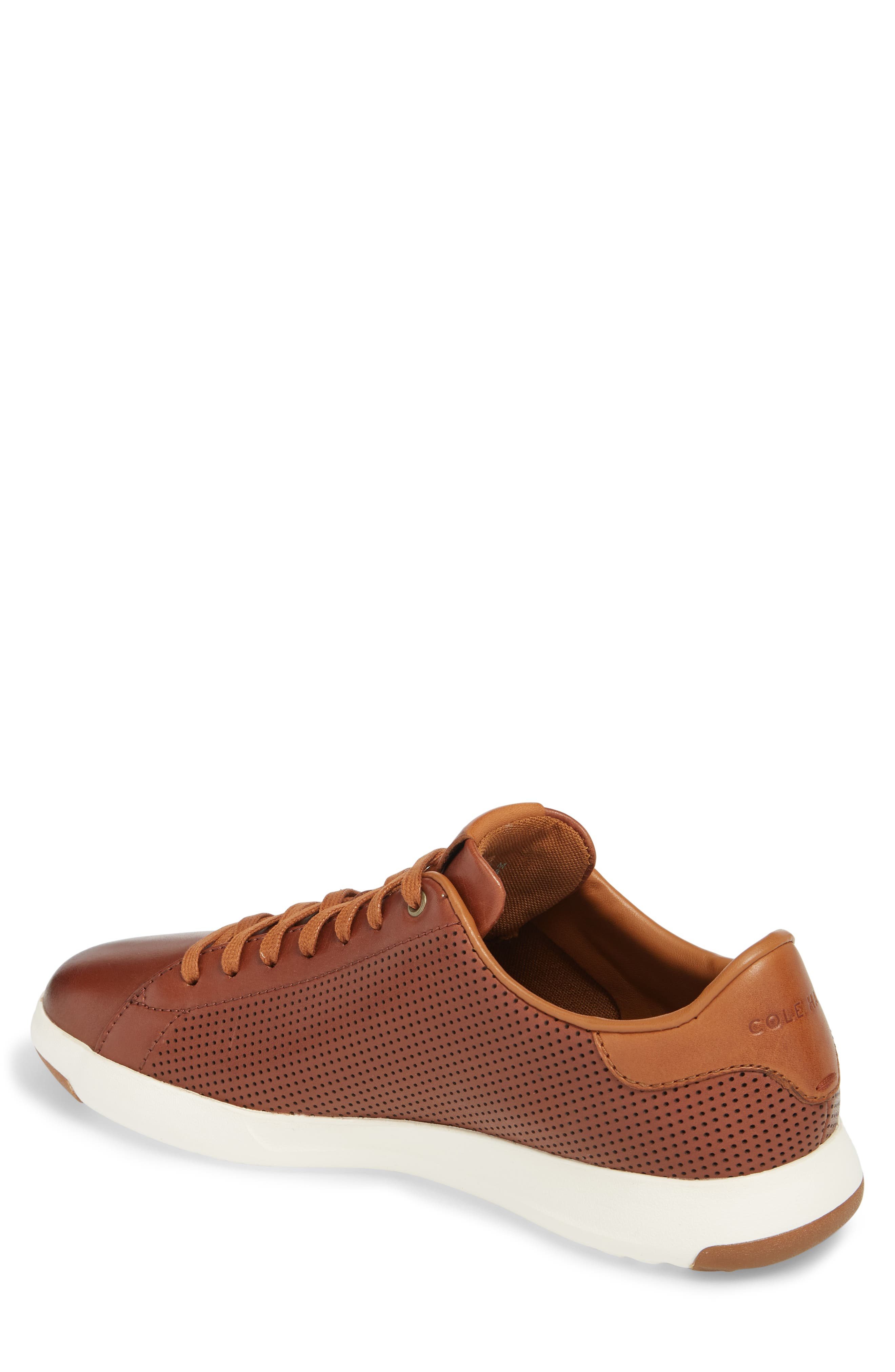 GrandPrø Perforated Low Top Sneaker,                             Alternate thumbnail 2, color,                             WOODBURY LEATHER