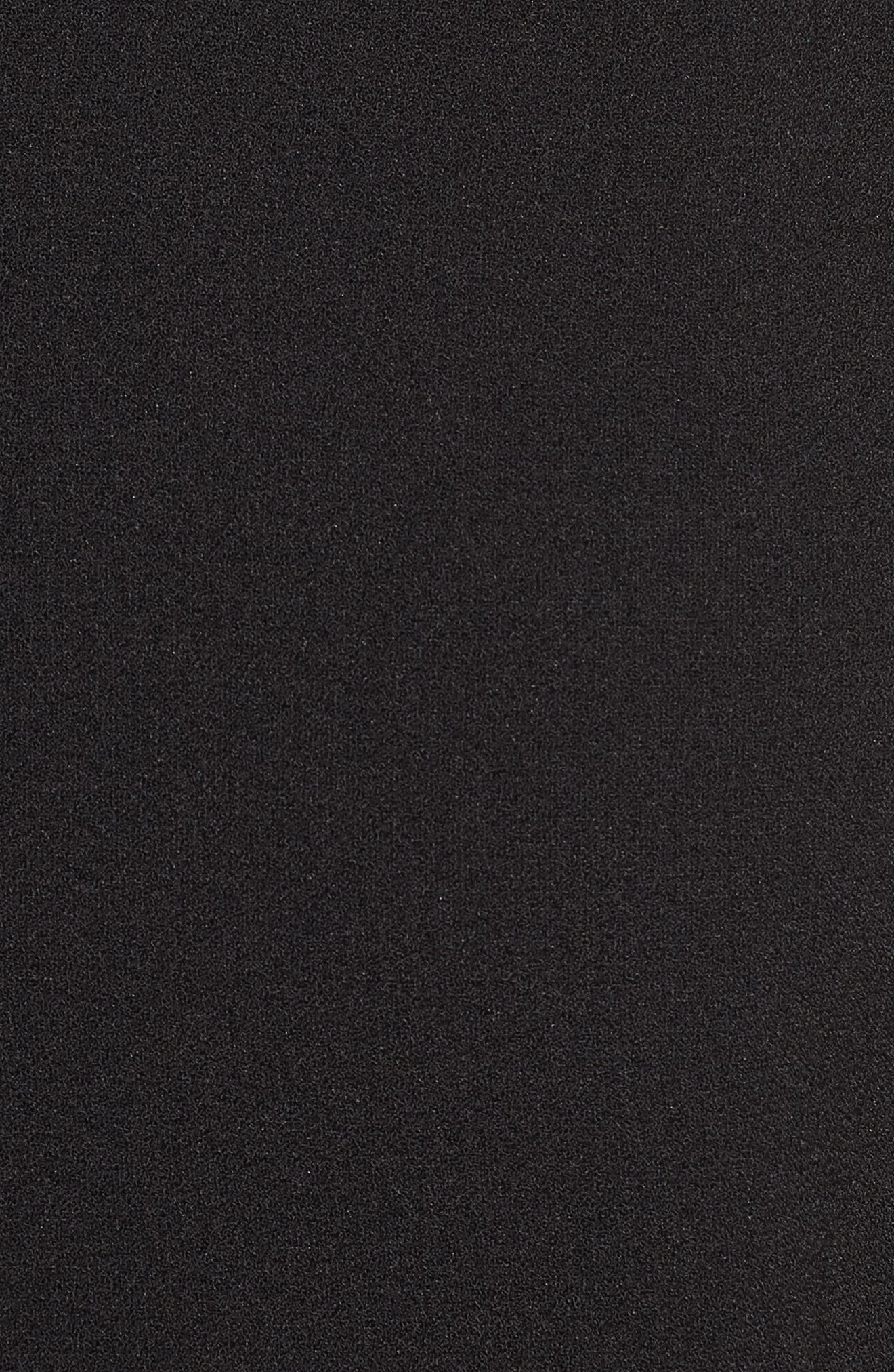 Lace Inset Fit & Flare Dress,                             Alternate thumbnail 6, color,                             002