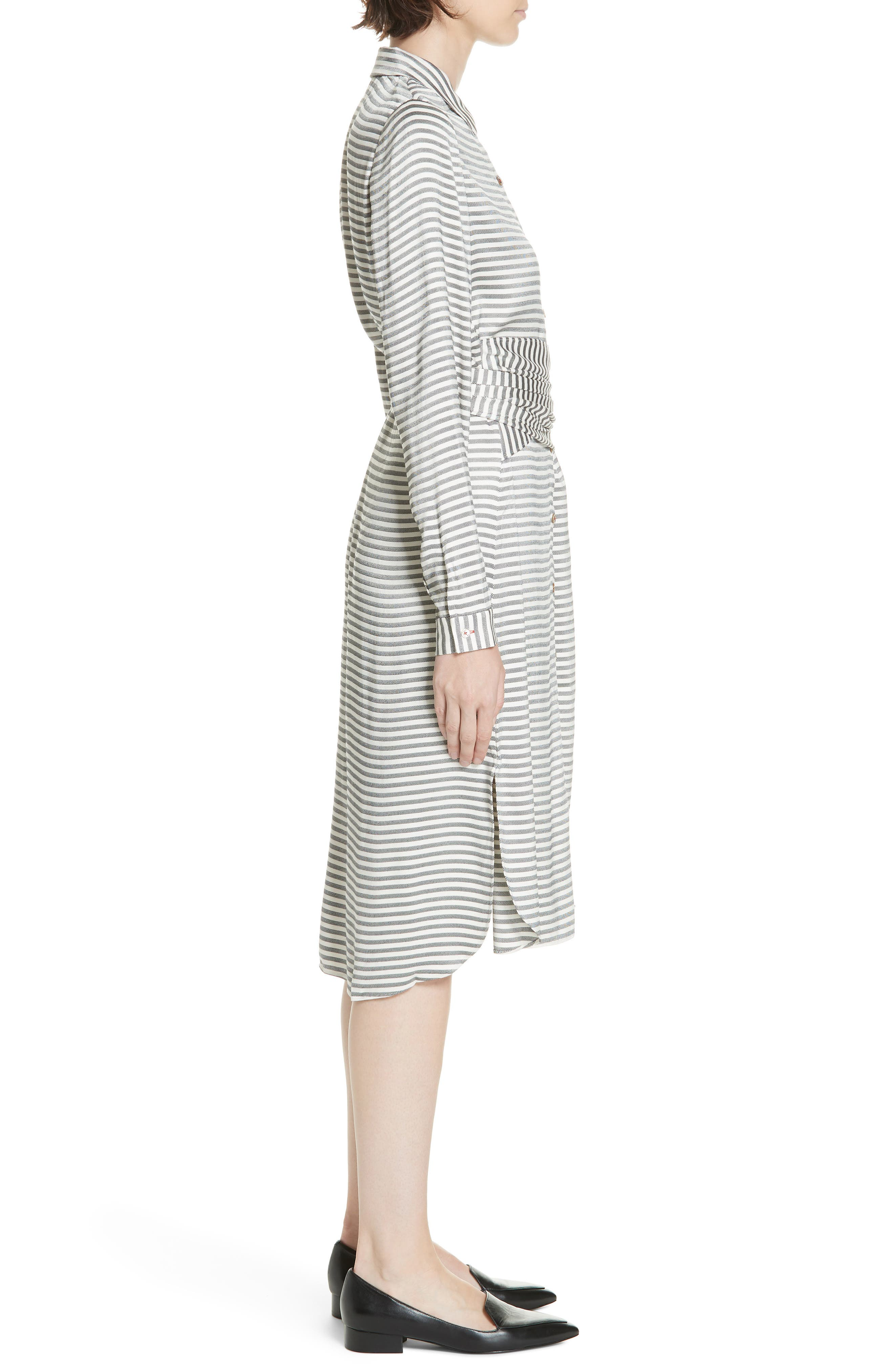 Colour by Numbers Sandre Stripe Shirtdress,                             Alternate thumbnail 3, color,                             905