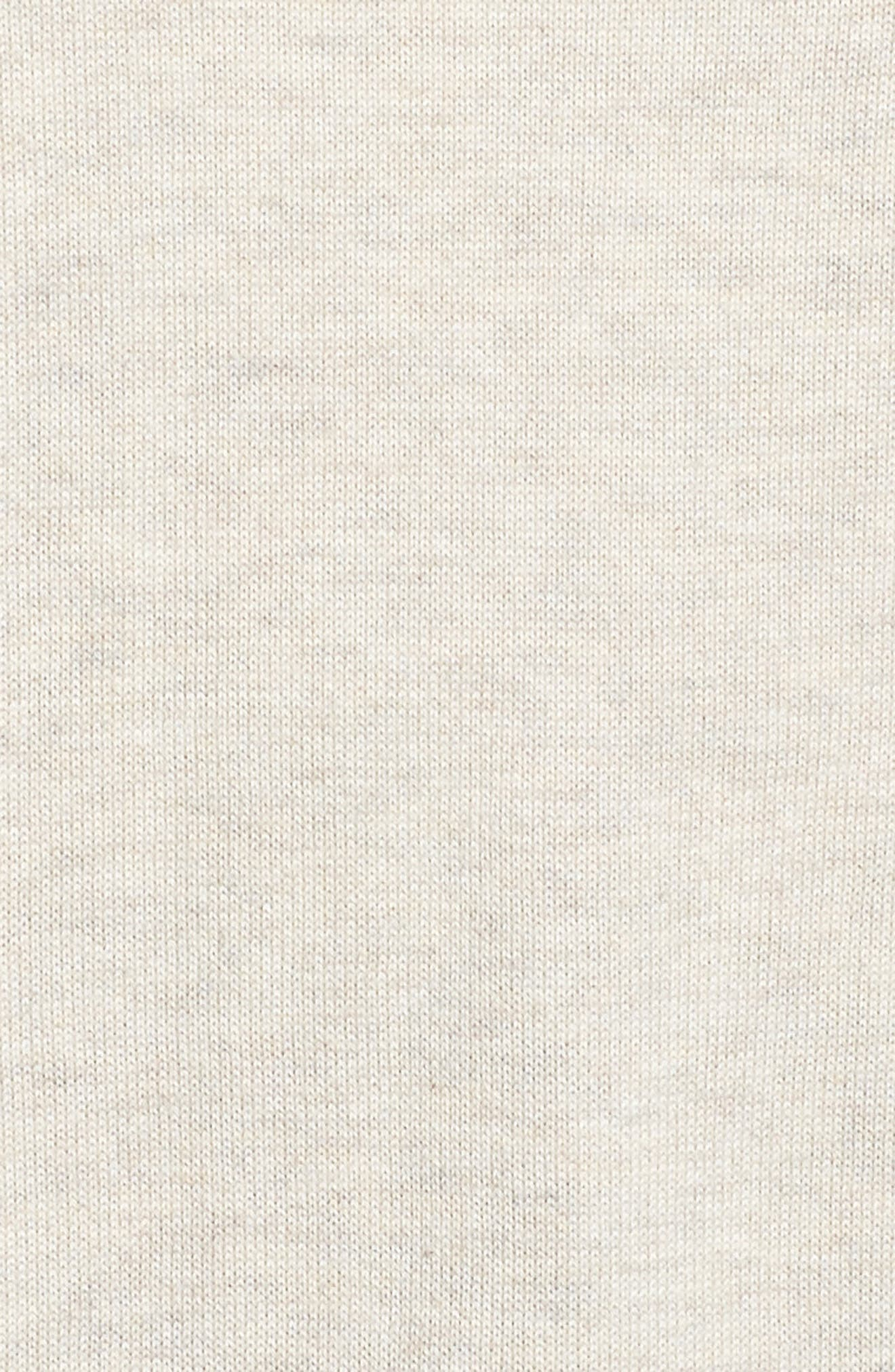 CASLON<SUP>®</SUP>,                             Roll Sleeve Tunic Sweater,                             Alternate thumbnail 5, color,                             BEIGE OATMEAL LIGHT HEATHER