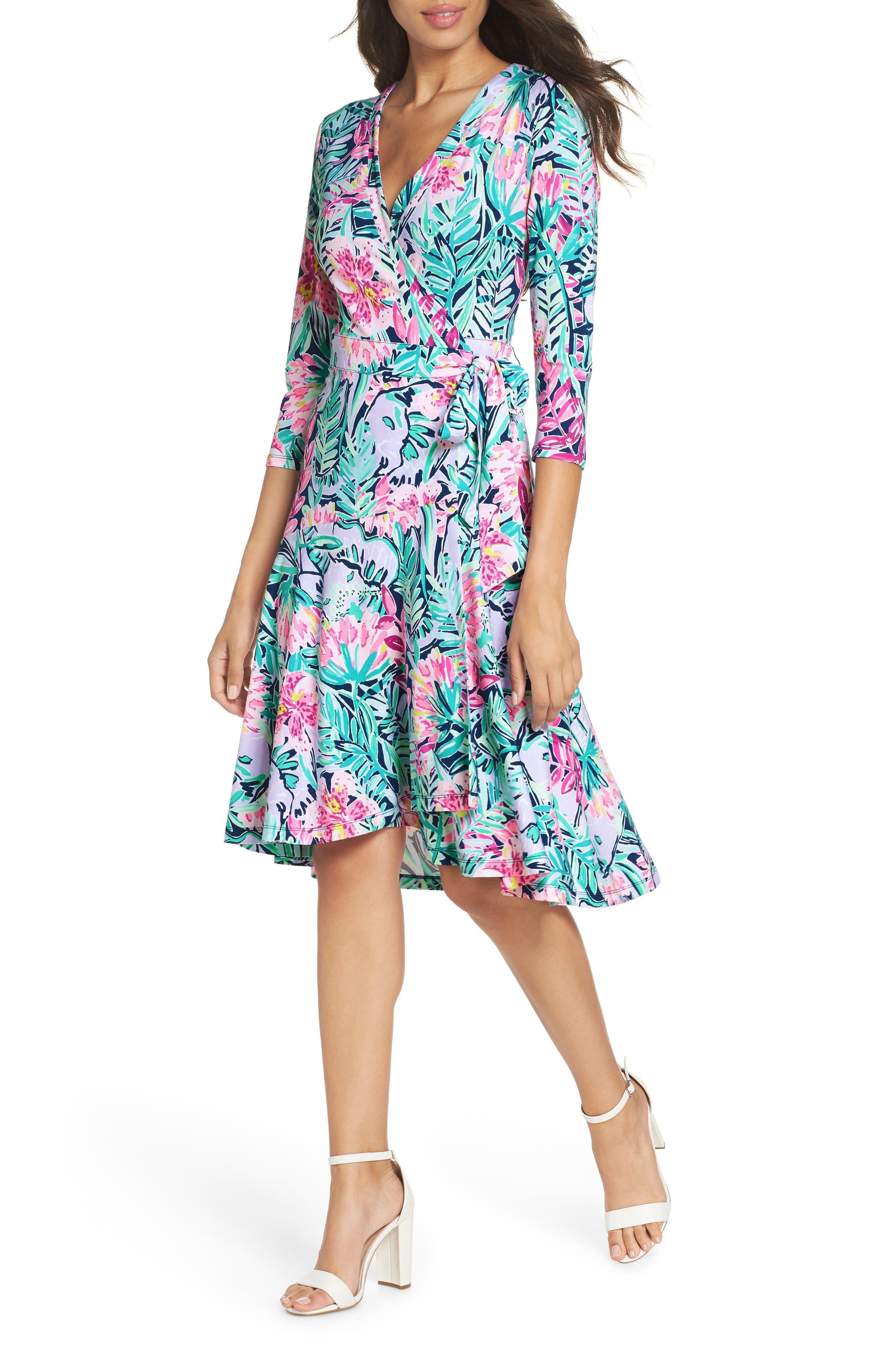 Lilly Pulitzer Rozaline Wrap Dress, Blue