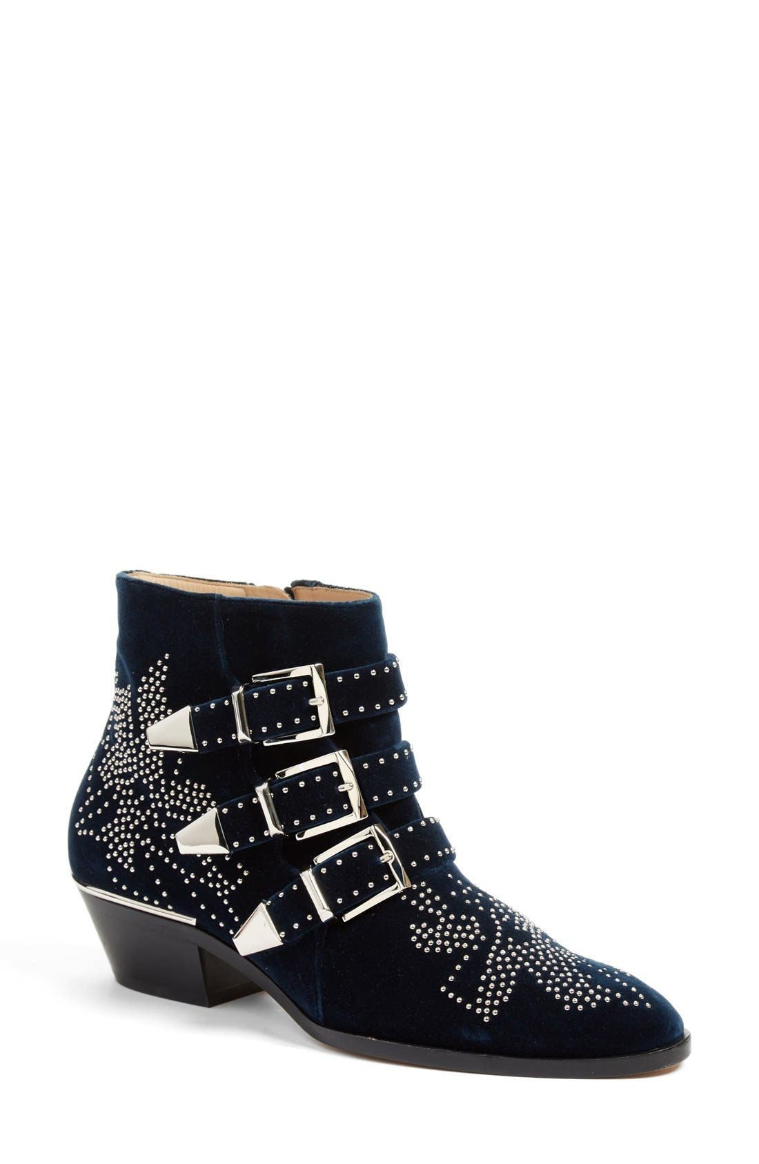 'Susan' Studded Buckle Boot, Main, color, 400