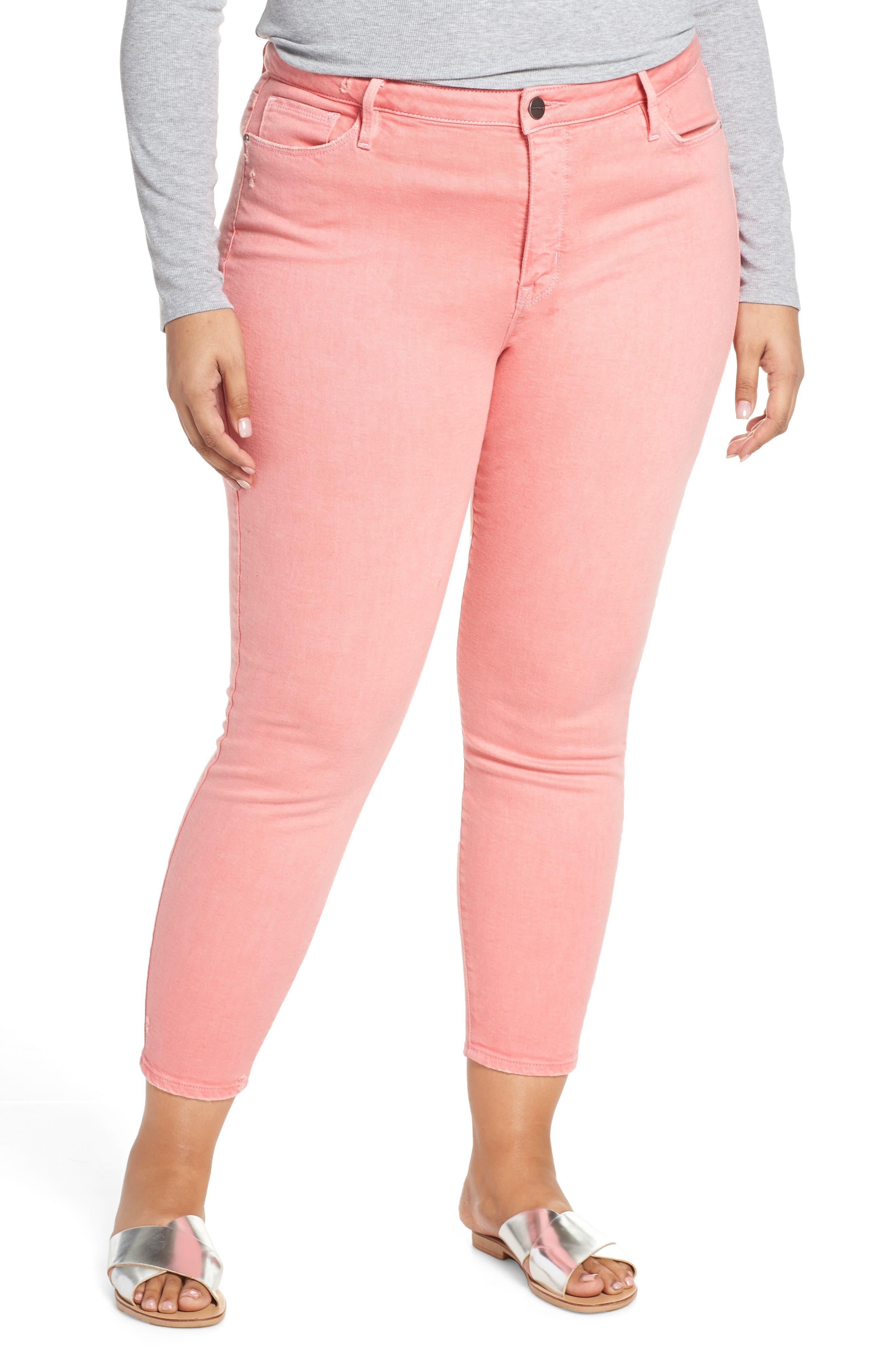 SANCTUARY Social Standard Ankle Skinny Jeans, Main, color, DK PNK FIZ