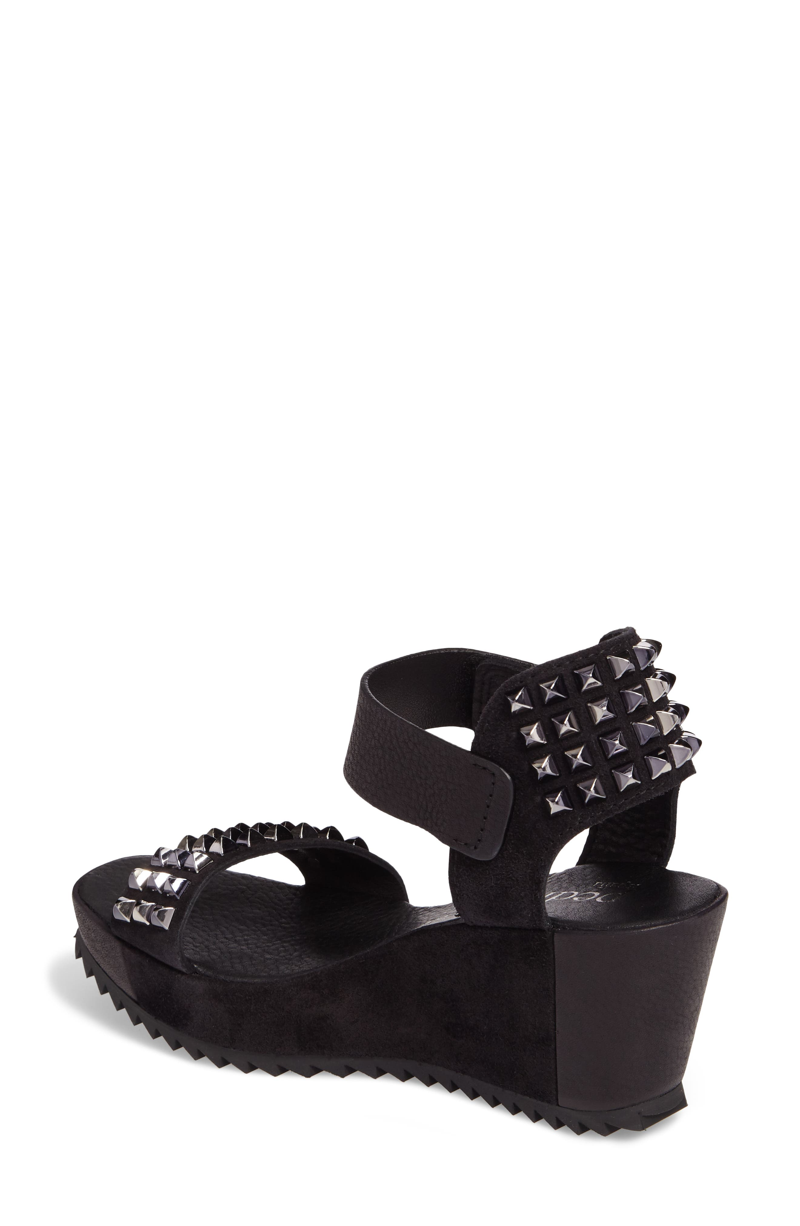 Fortuna Studded Wedge Sandal,                             Alternate thumbnail 2, color,