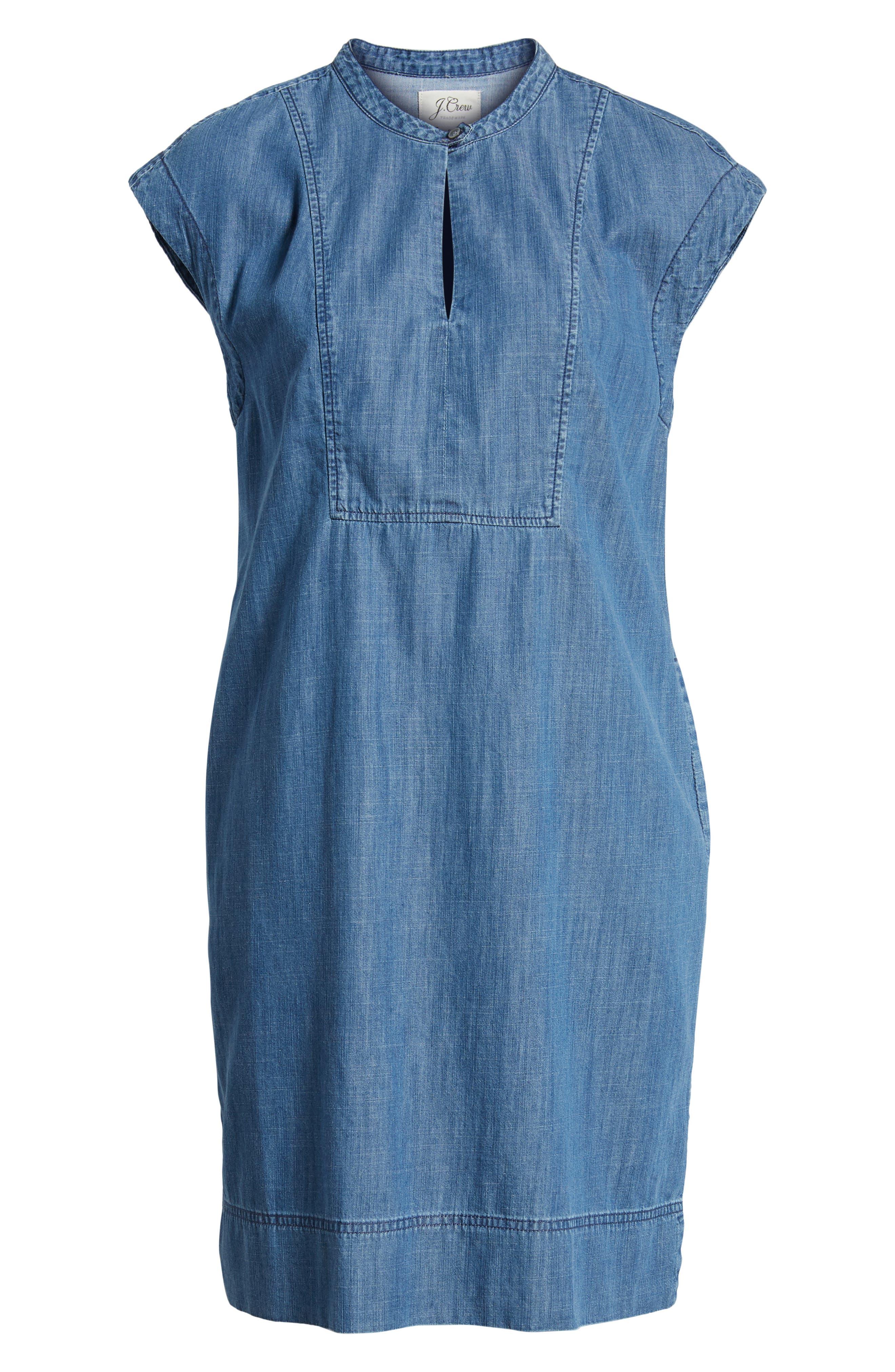 Dorado Keyhole Chambray Dress,                             Alternate thumbnail 6, color,                             400