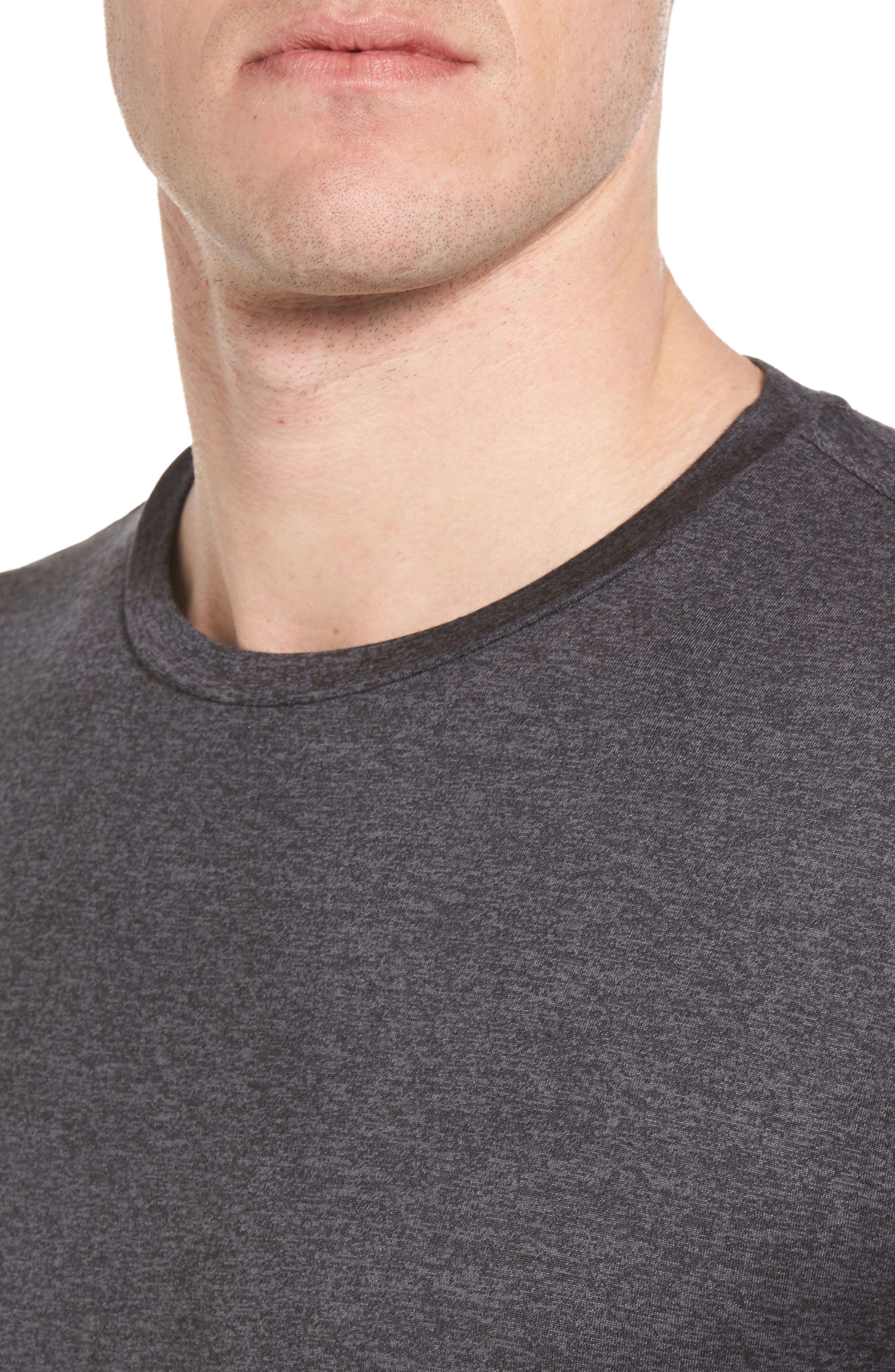 Strato Slim Fit Crewneck T-Shirt,                             Alternate thumbnail 4, color,                             HEATHER CHARCOAL