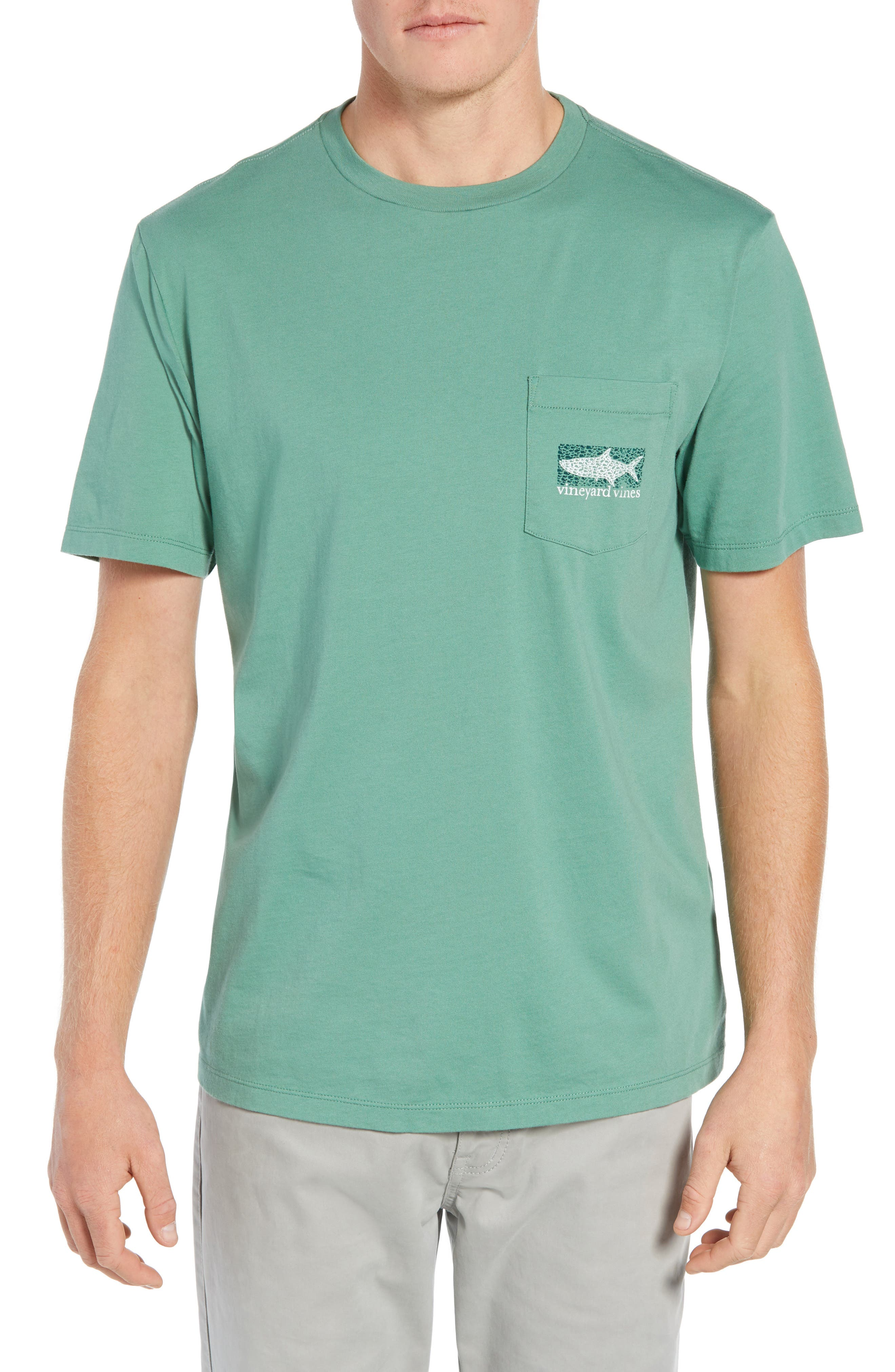 Fish Scale Pocket T-Shirt,                         Main,                         color, STARBOARD GREEN