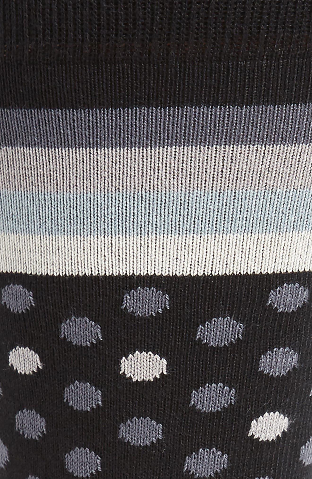 Dot & Stripe Socks,                             Alternate thumbnail 2, color,                             009