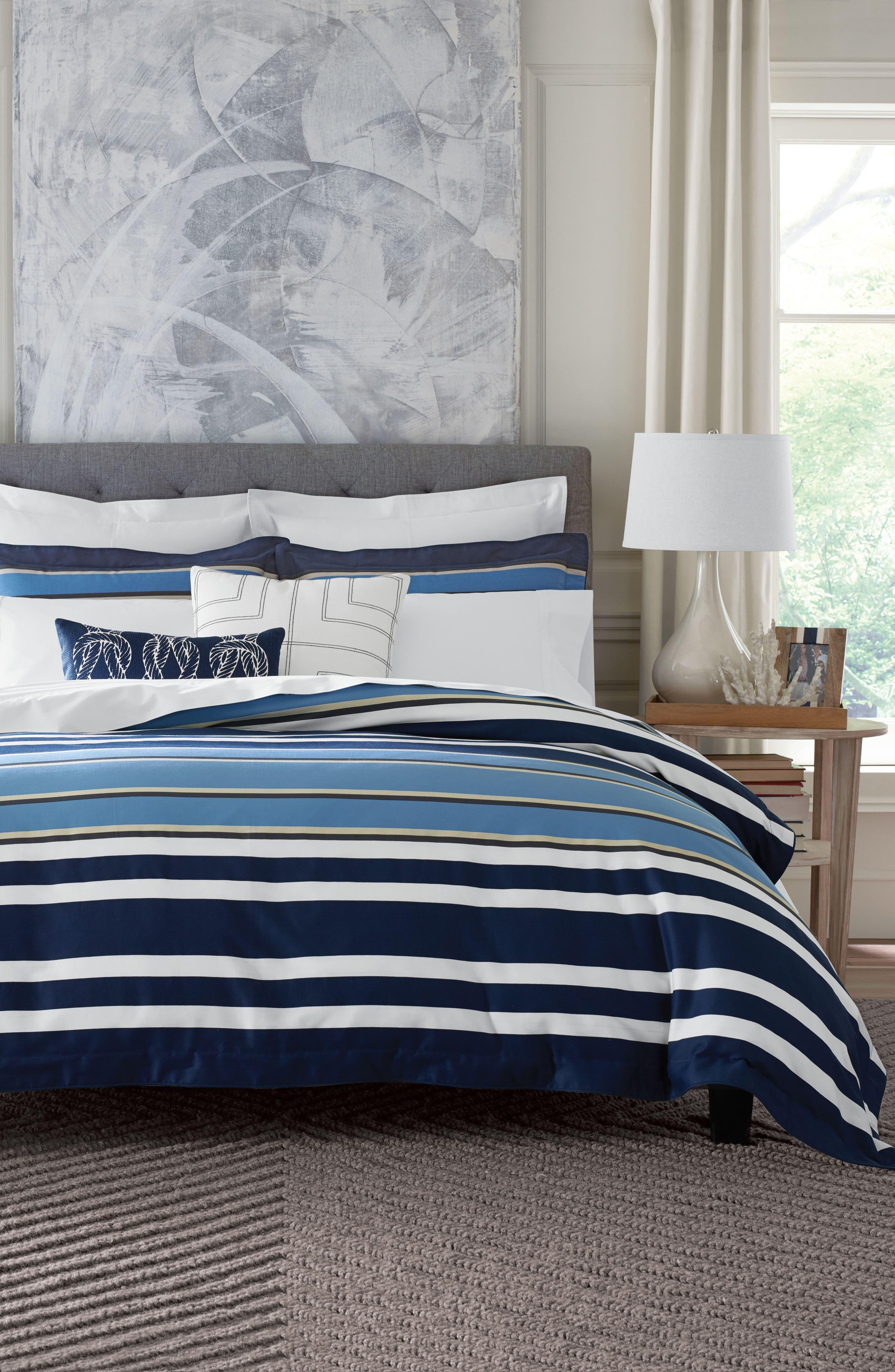 Robinson Stripe Duvet Cover & Sham Set,                         Main,                         color, 400