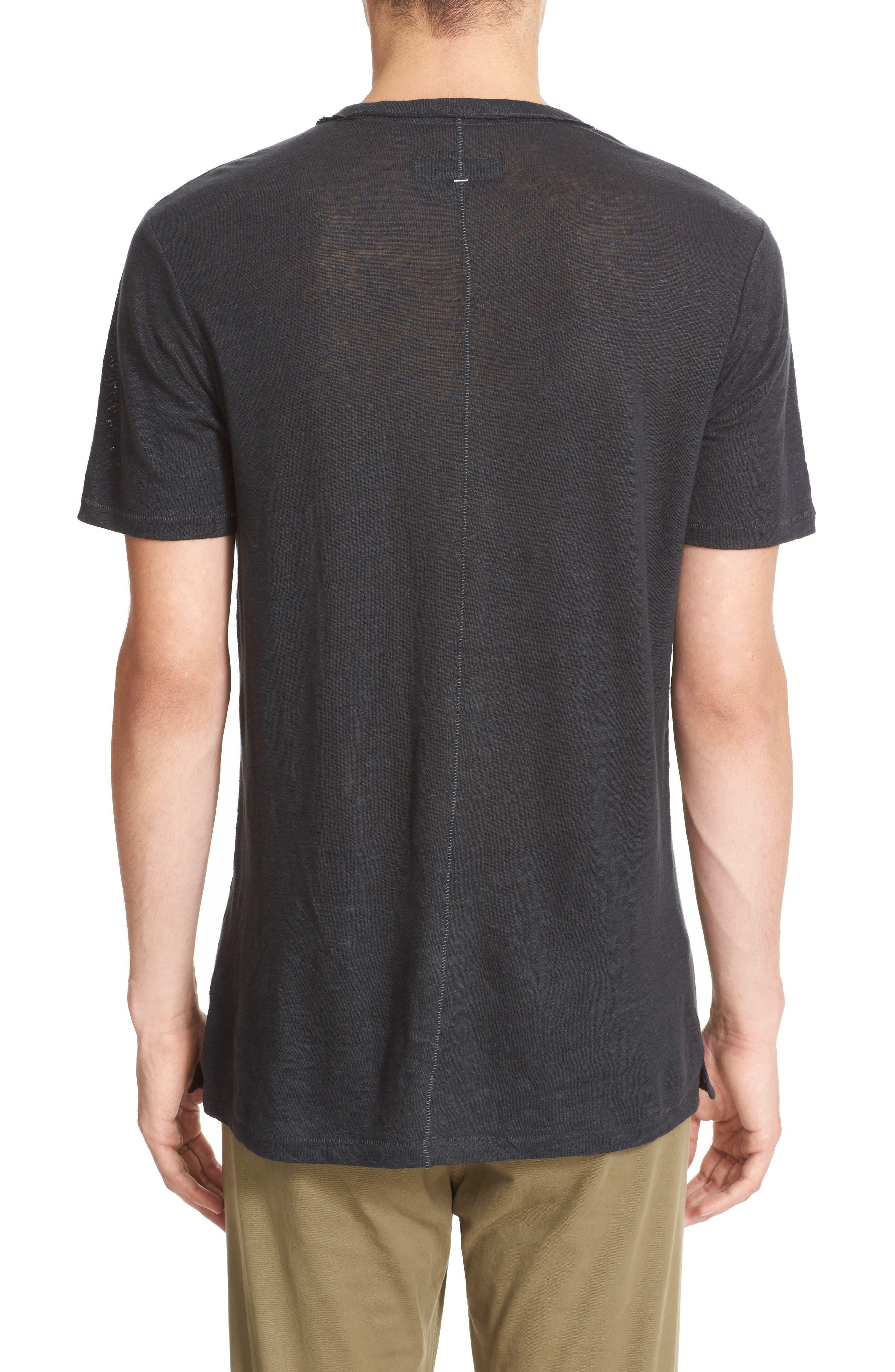 Owen Slub Linen T-Shirt,                             Alternate thumbnail 2, color,                             001