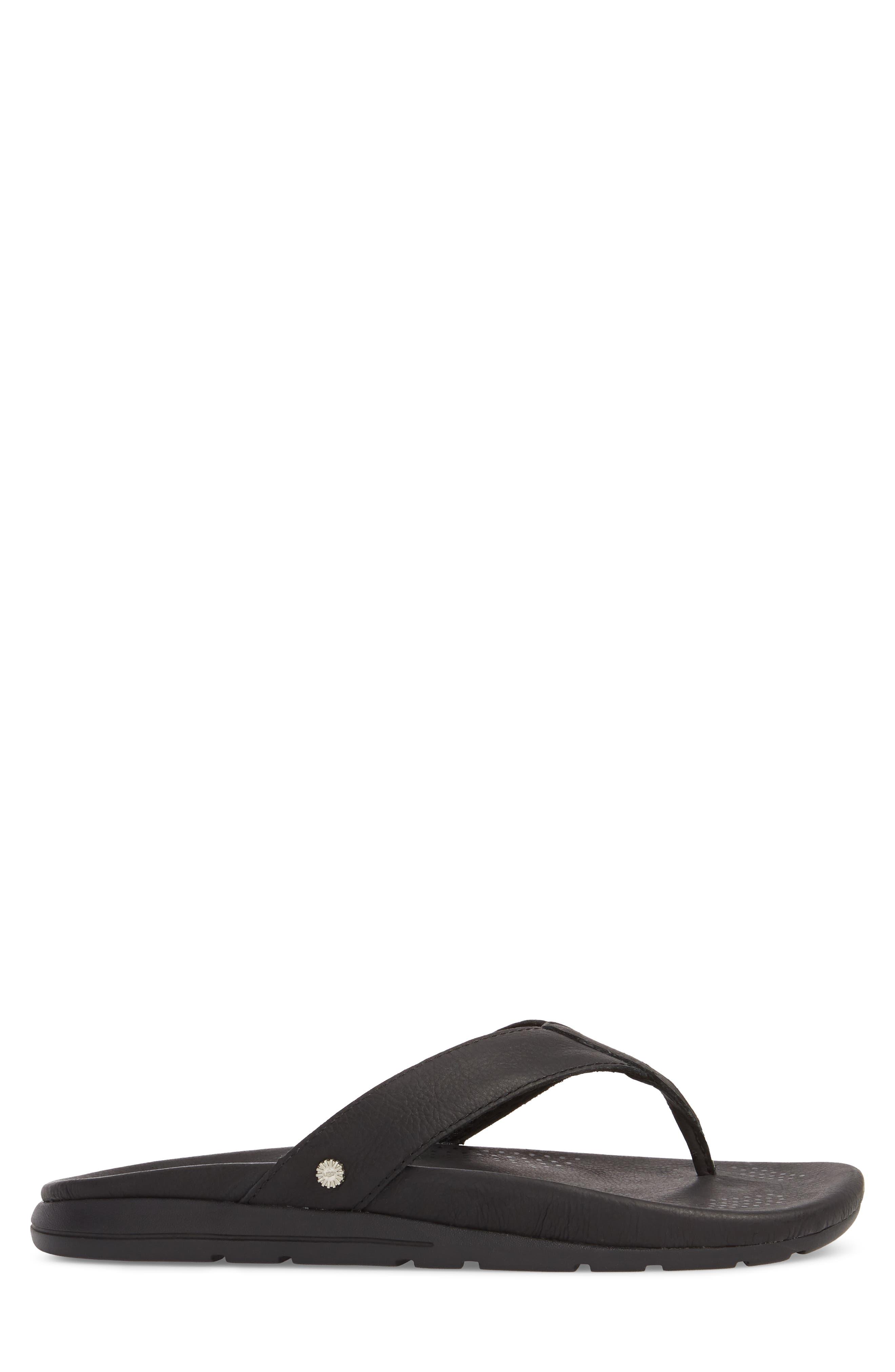 Tenoch Luxe Flip Flop,                             Alternate thumbnail 3, color,                             001