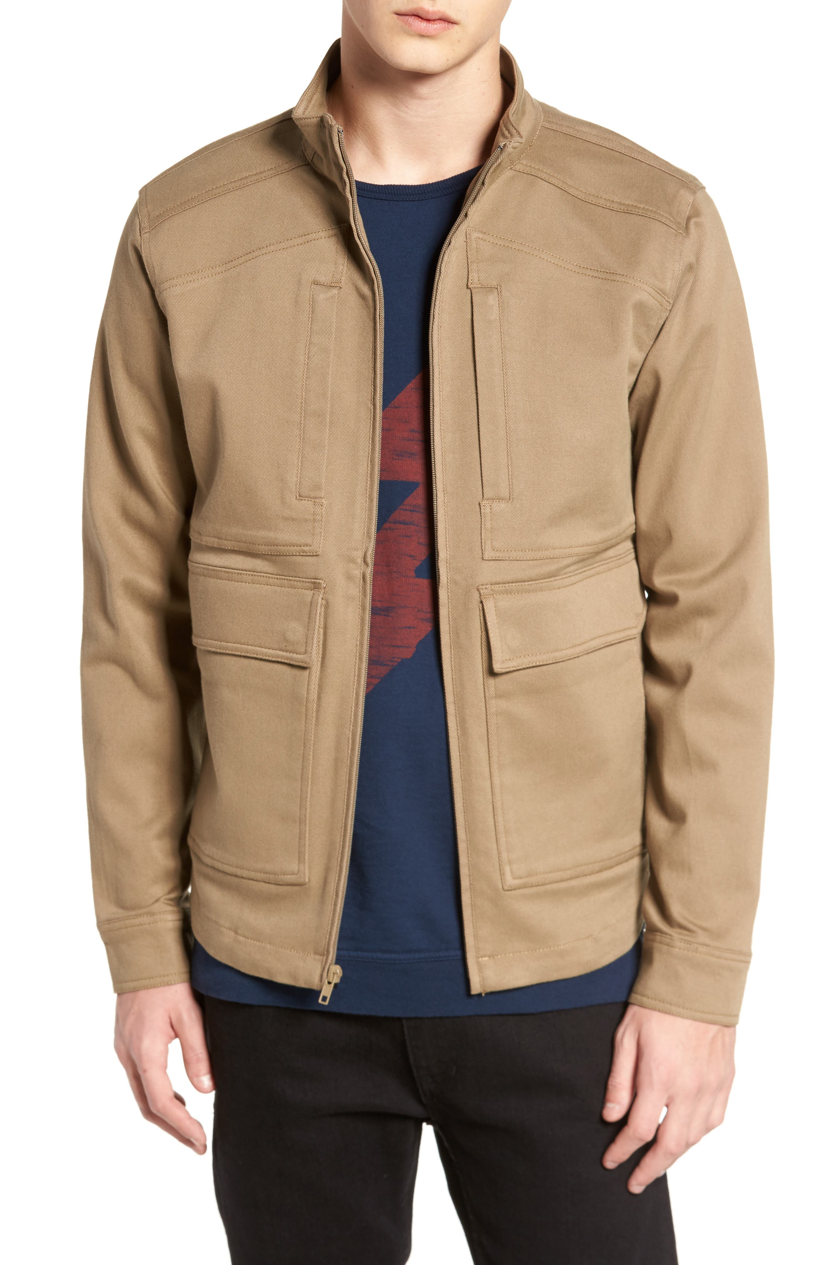 Brushed Twill Zip Jacket,                             Main thumbnail 1, color,