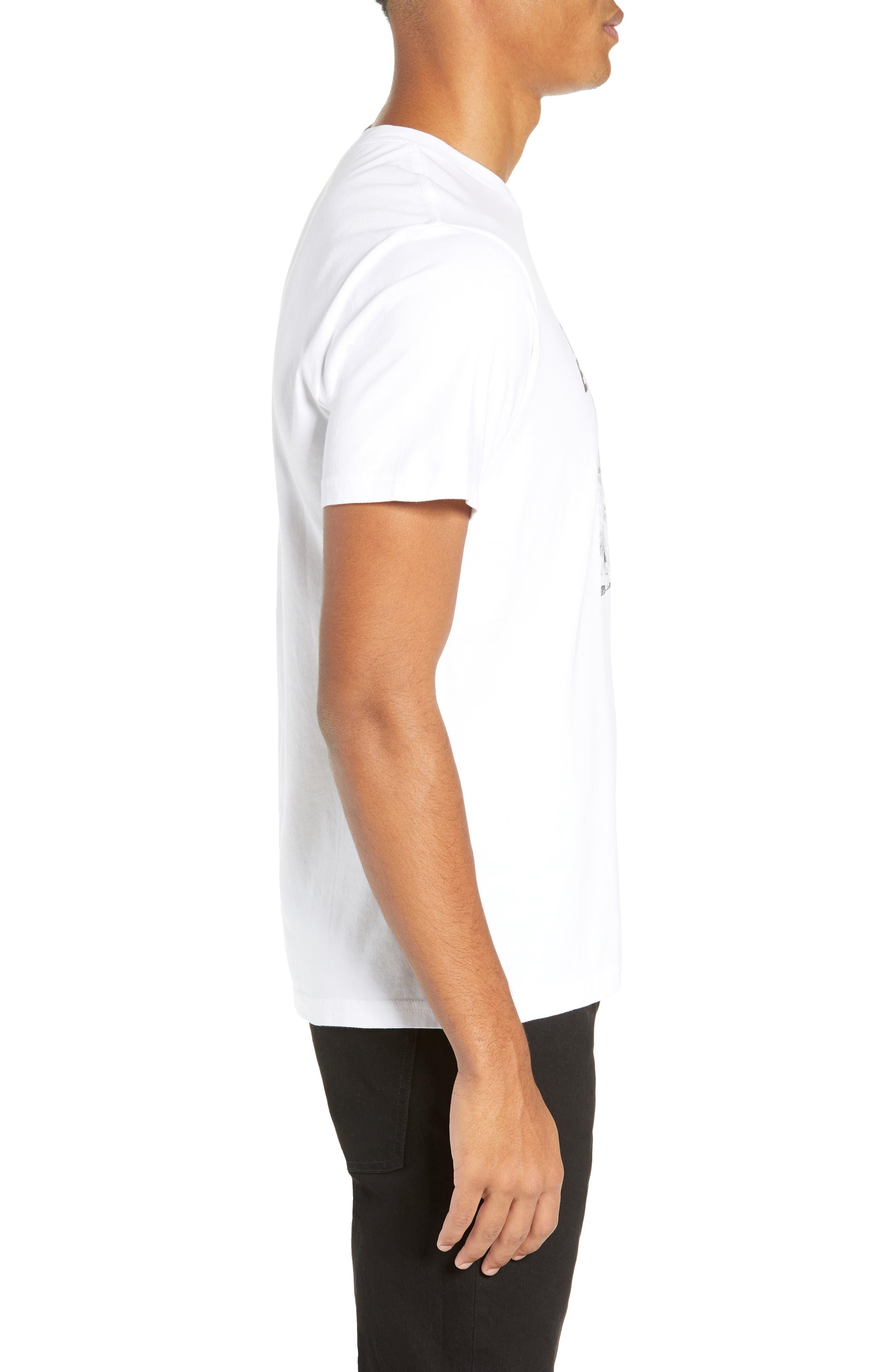 Clashing Graphic T-Shirt,                             Alternate thumbnail 3, color,                             WHITE
