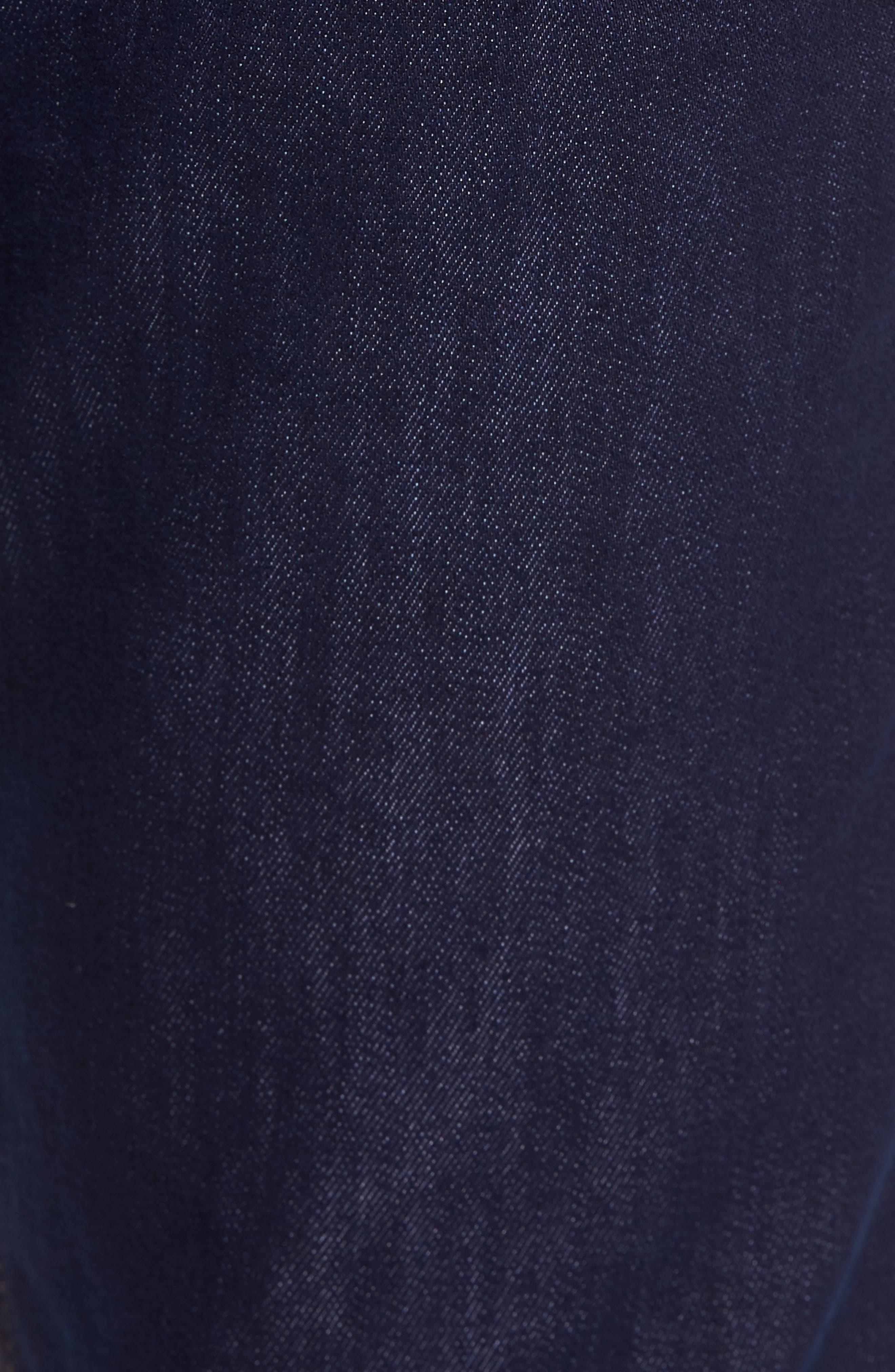 Straight Leg Performance Jeans,                             Alternate thumbnail 5, color,                             DARK DENIM