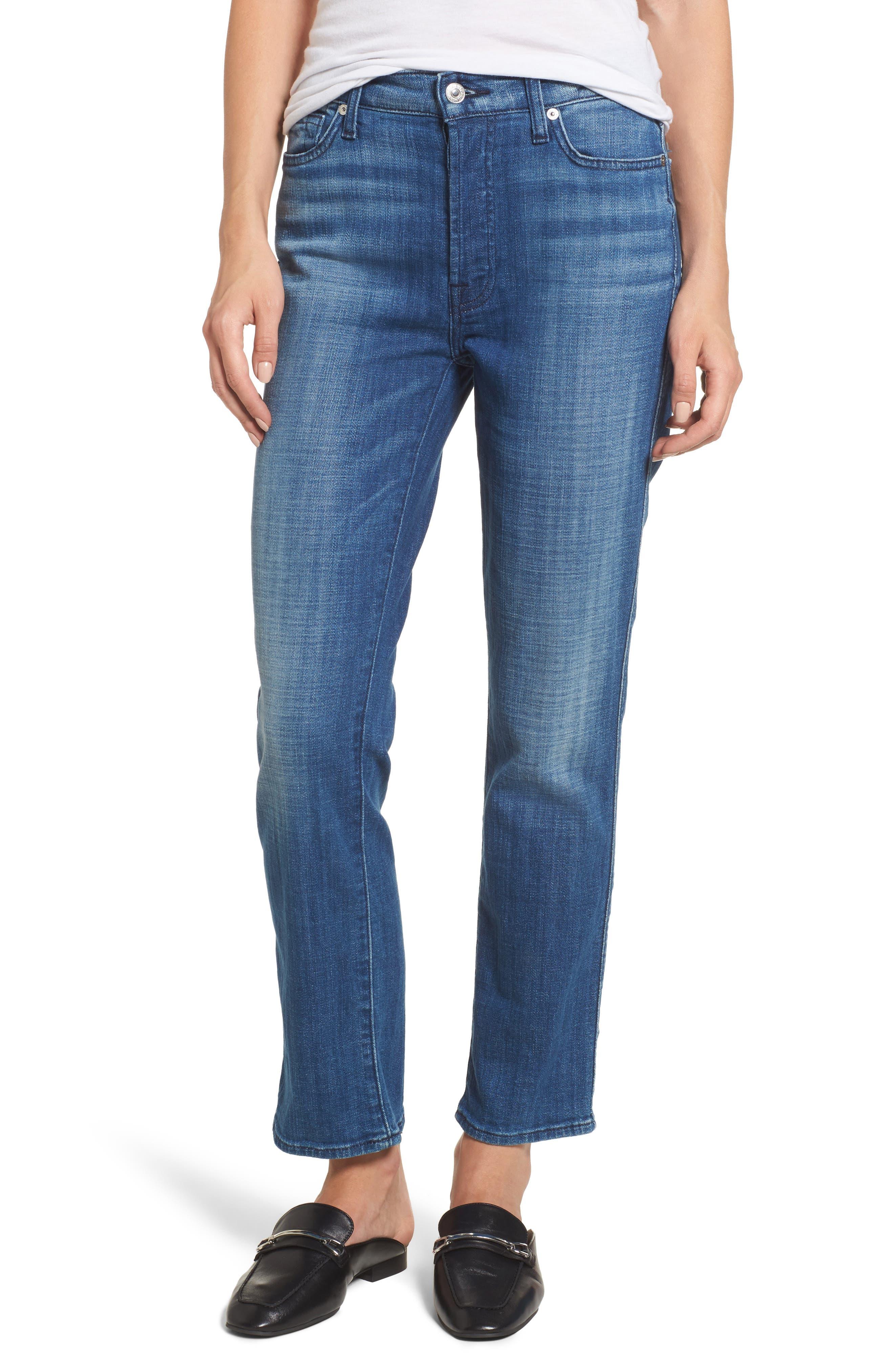 Edie High Waist Crop Jeans,                             Main thumbnail 1, color,                             400