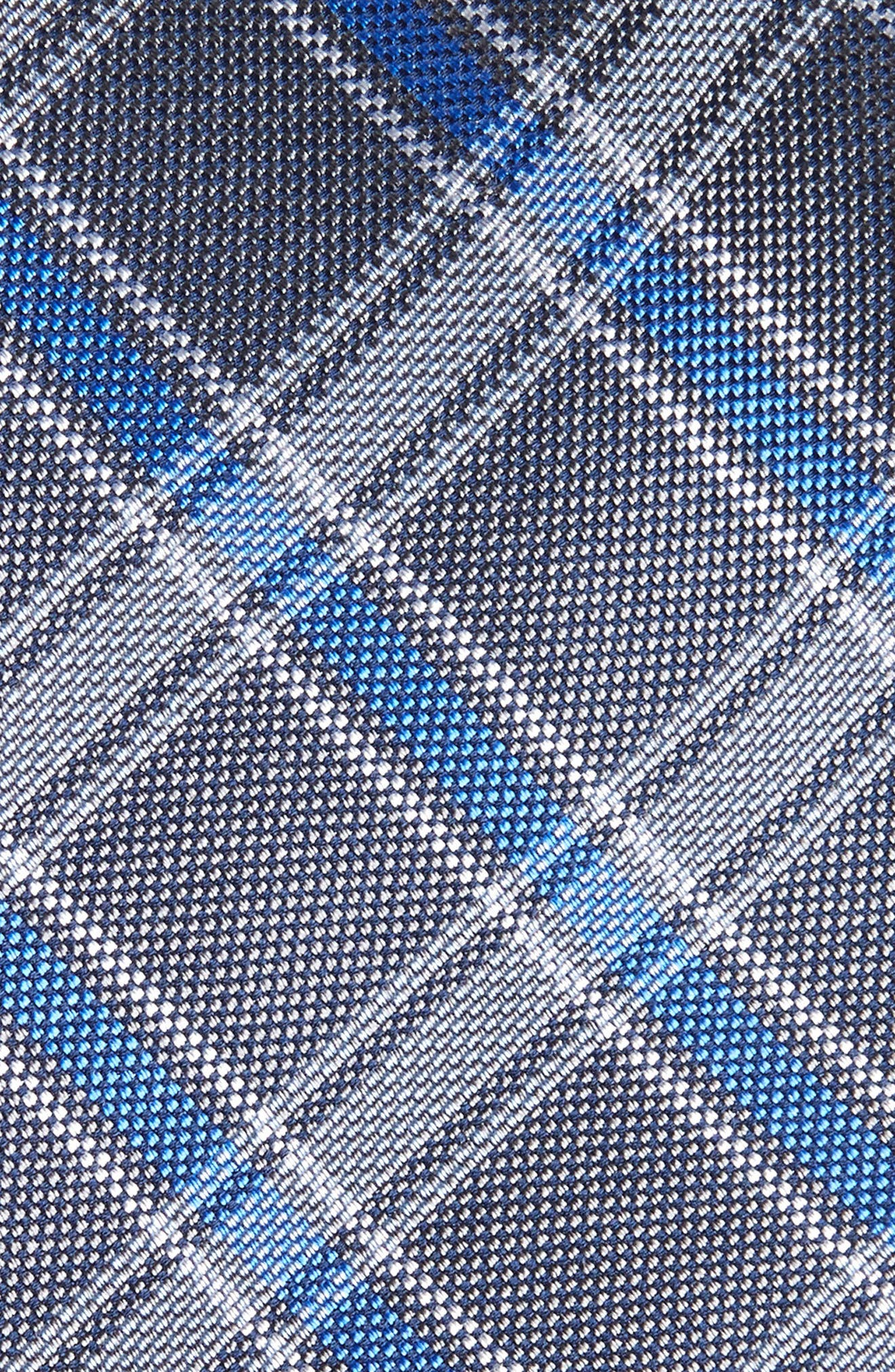 Oxford Plaid Silk Tie,                             Alternate thumbnail 3, color,