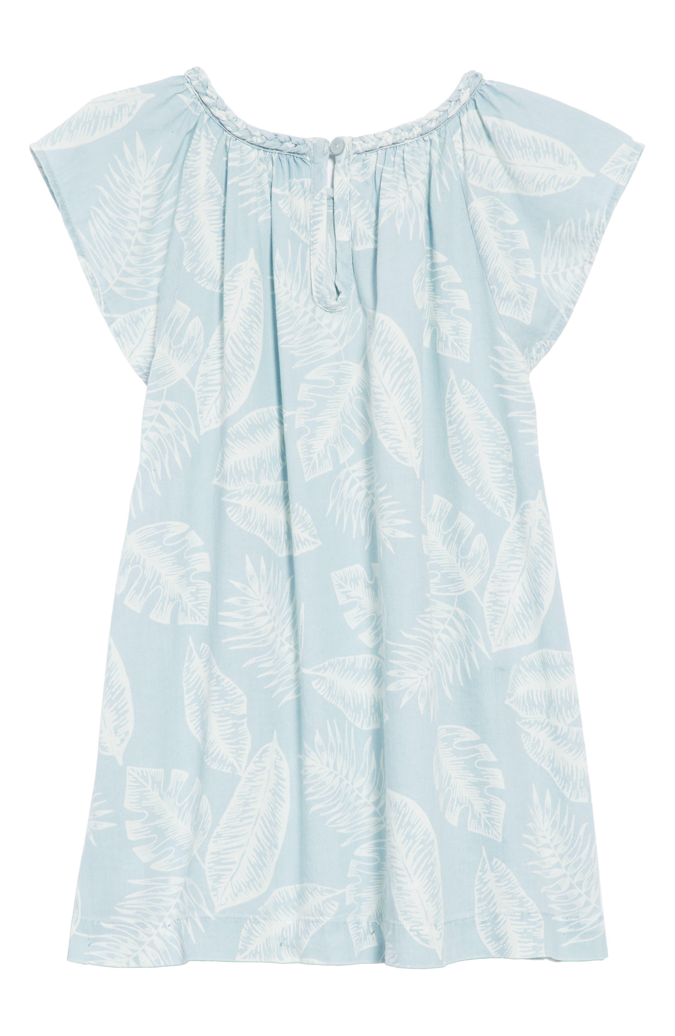 Palm Leaf Chambray Dress,                             Alternate thumbnail 2, color,                             420