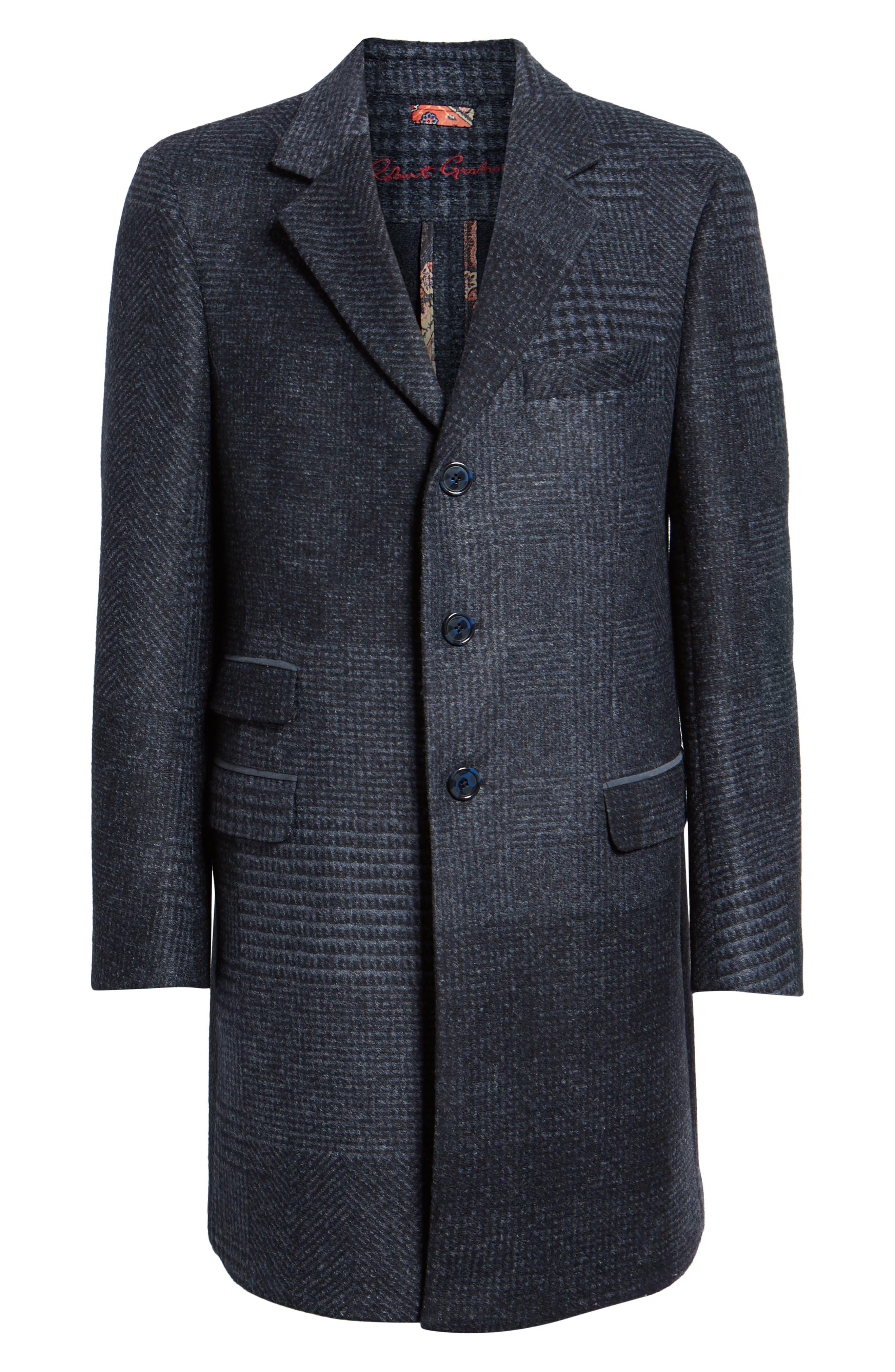 Lamberton Classic Top Coat,                             Alternate thumbnail 5, color,                             NAVY