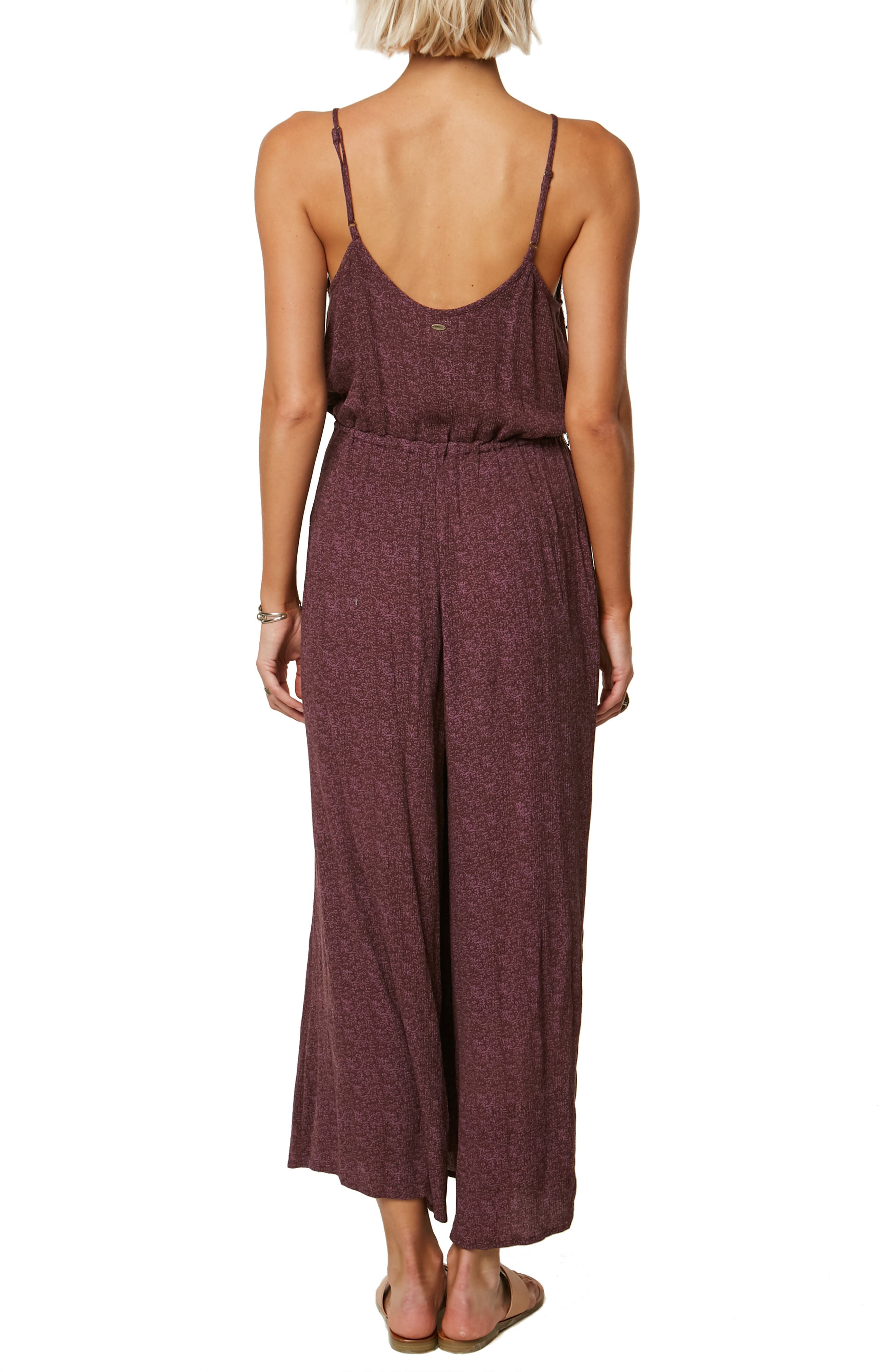 Claudia Wide Leg Jumpsuit,                             Alternate thumbnail 2, color,                             FRENCH ROAST
