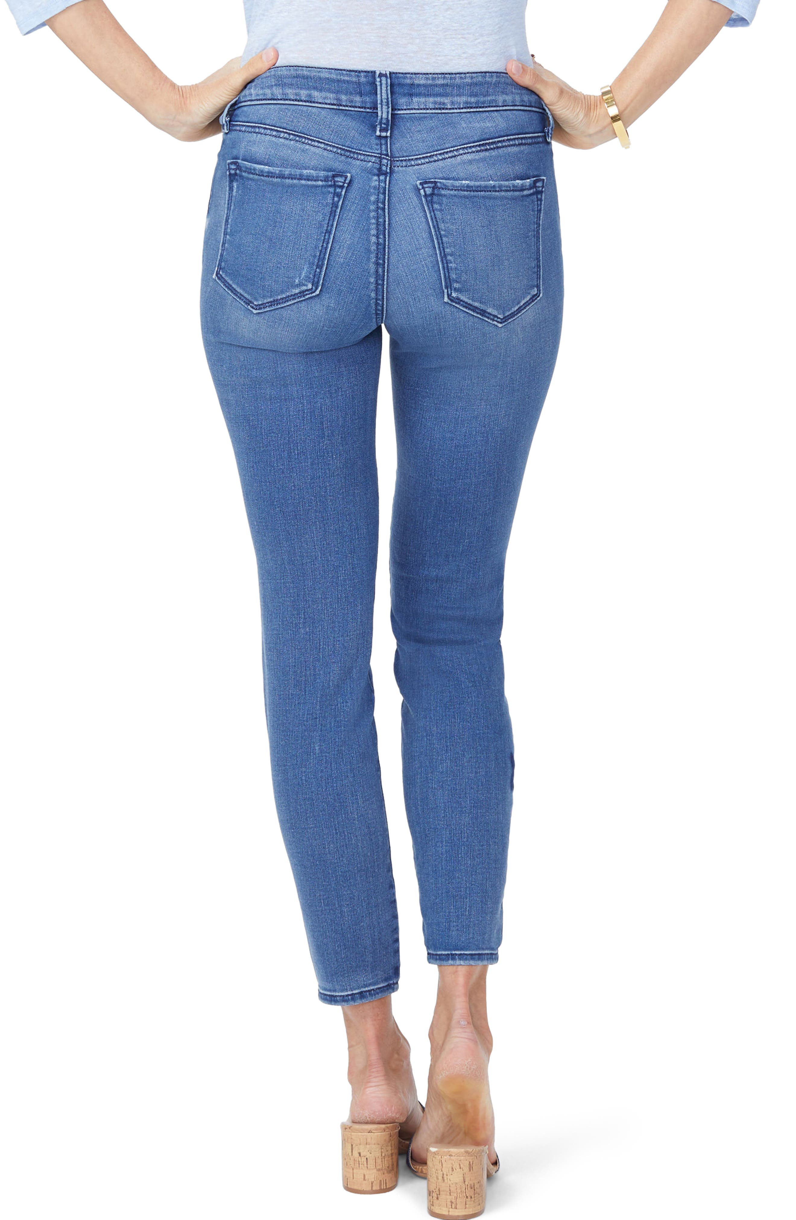 Ami Butterfly Skinny Jeans,                             Alternate thumbnail 2, color,