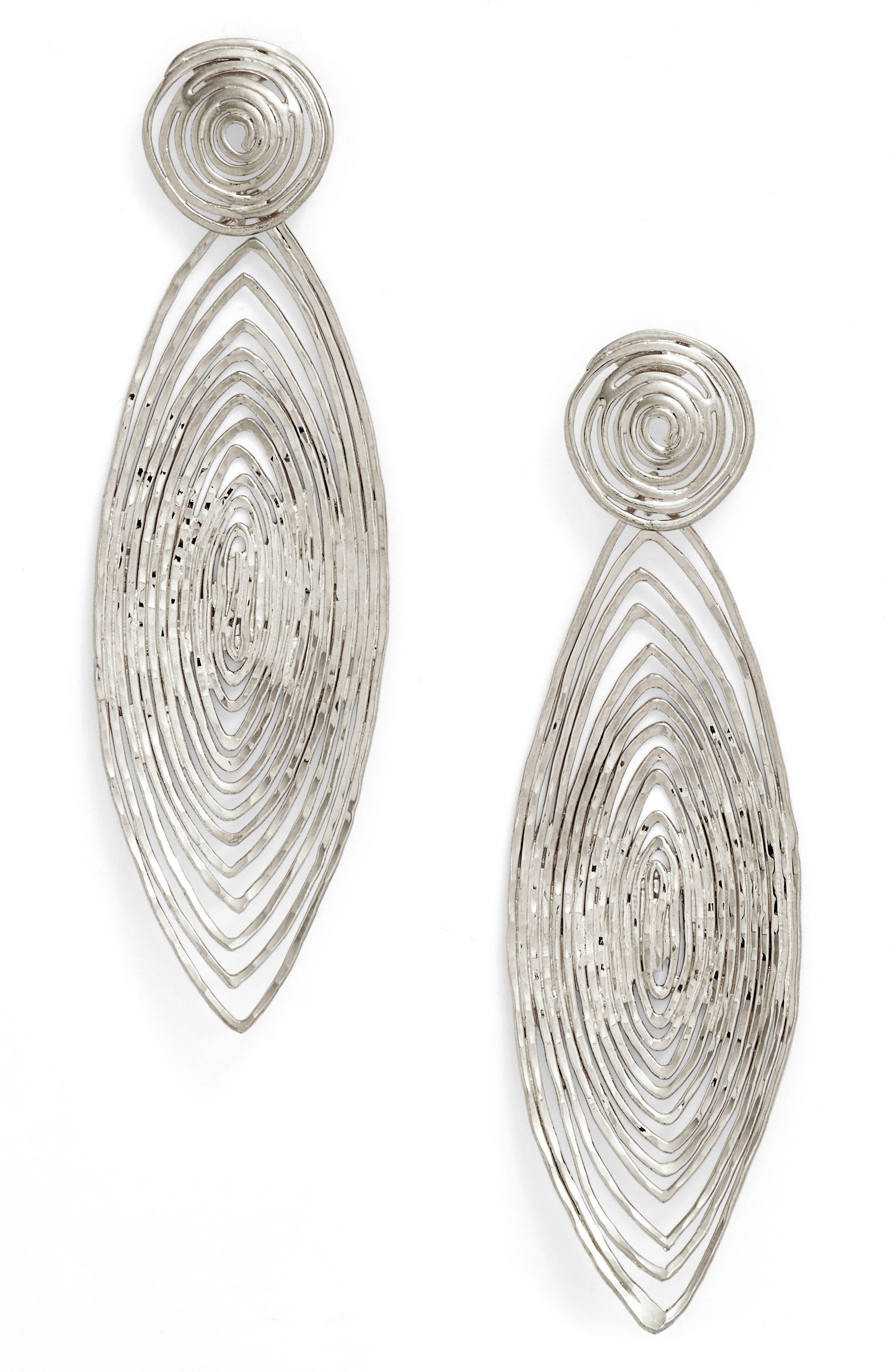 'Long Wave' Drop Earrings,                         Main,                         color, 040