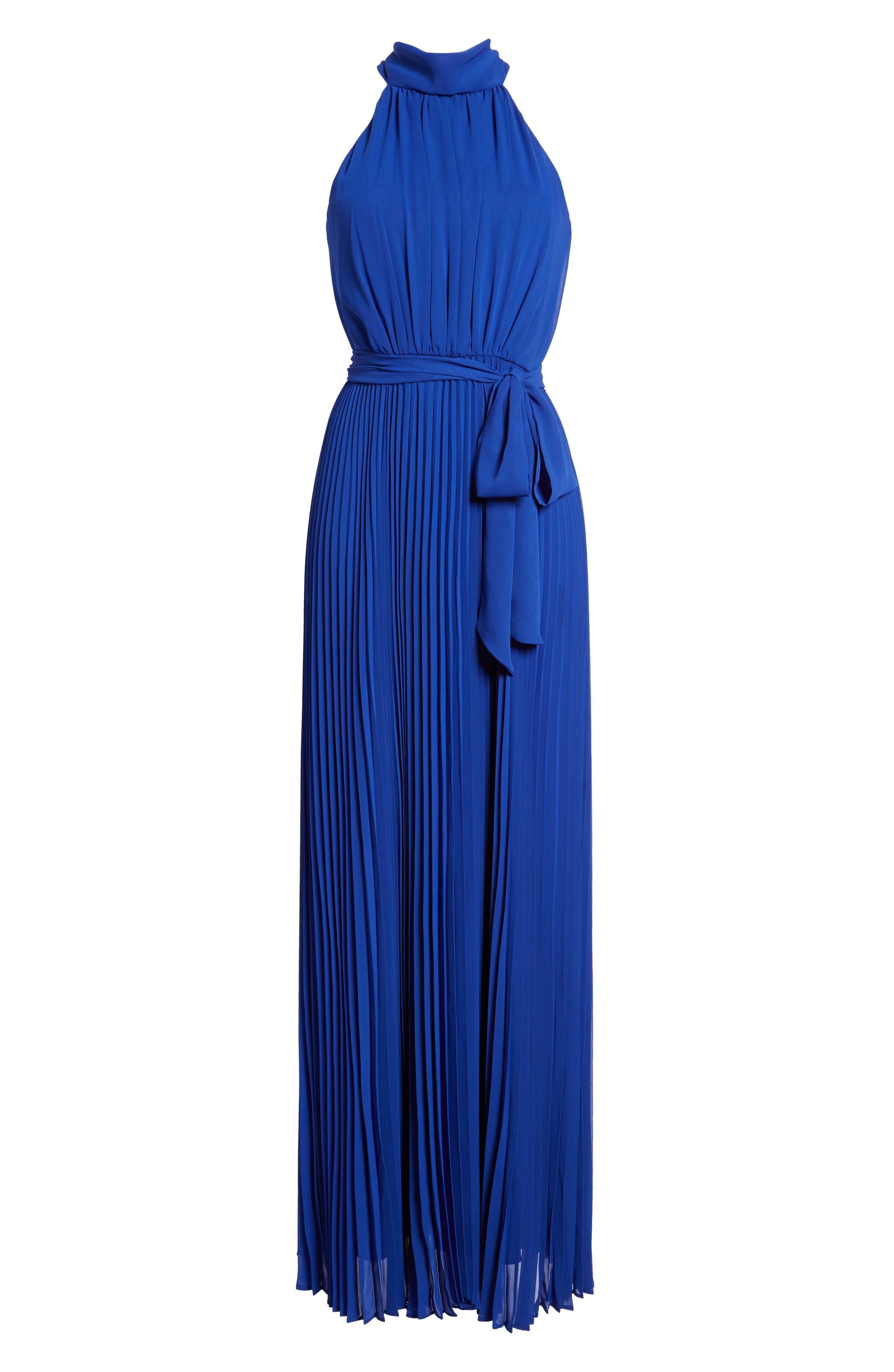 Pleated Chiffon Maxi Dress,                             Main thumbnail 1, color,                             430