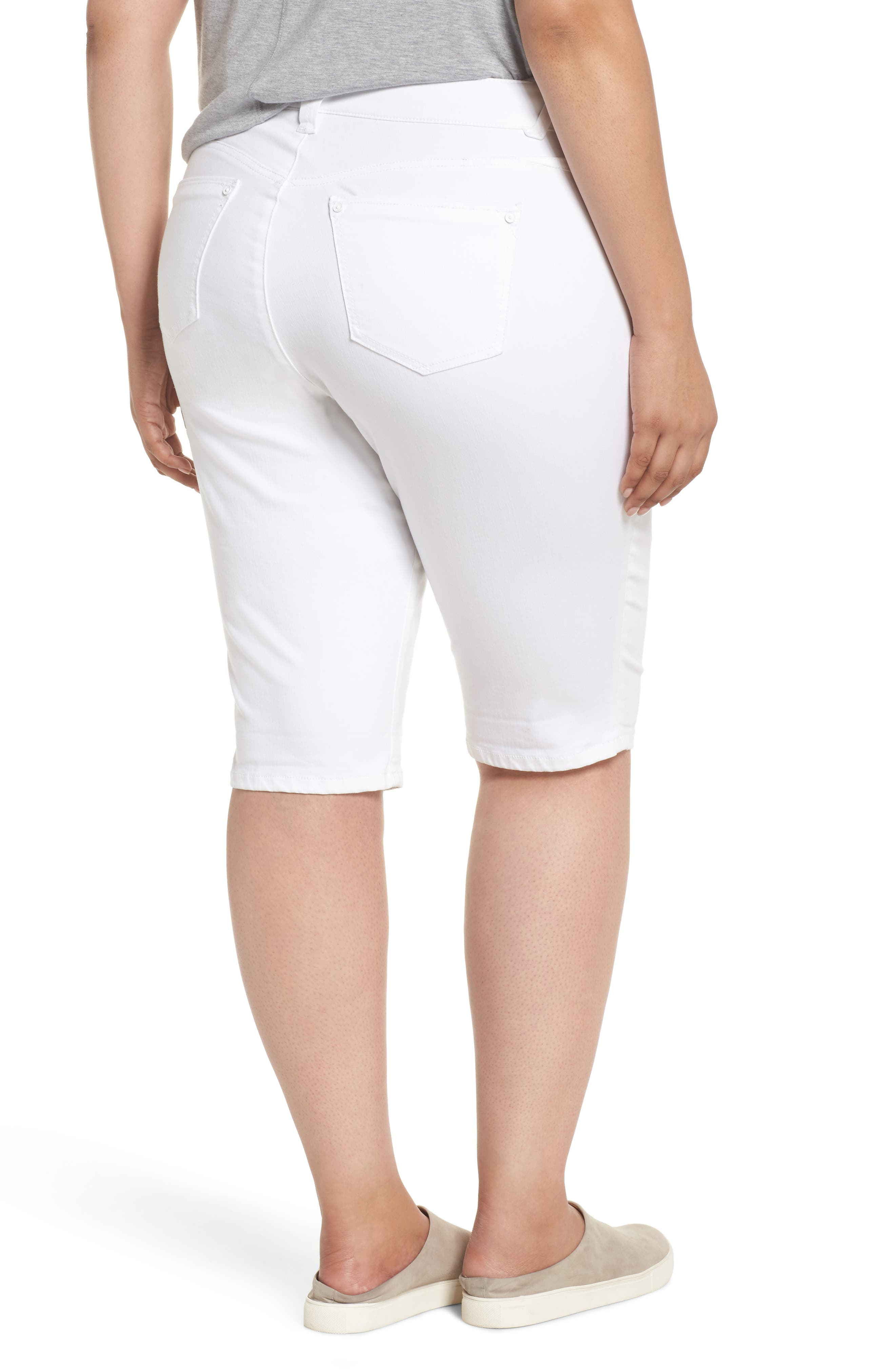 WIT & WISDOM,                             Ab-solution Bermuda Shorts,                             Alternate thumbnail 2, color,                             OPTIC WHITE