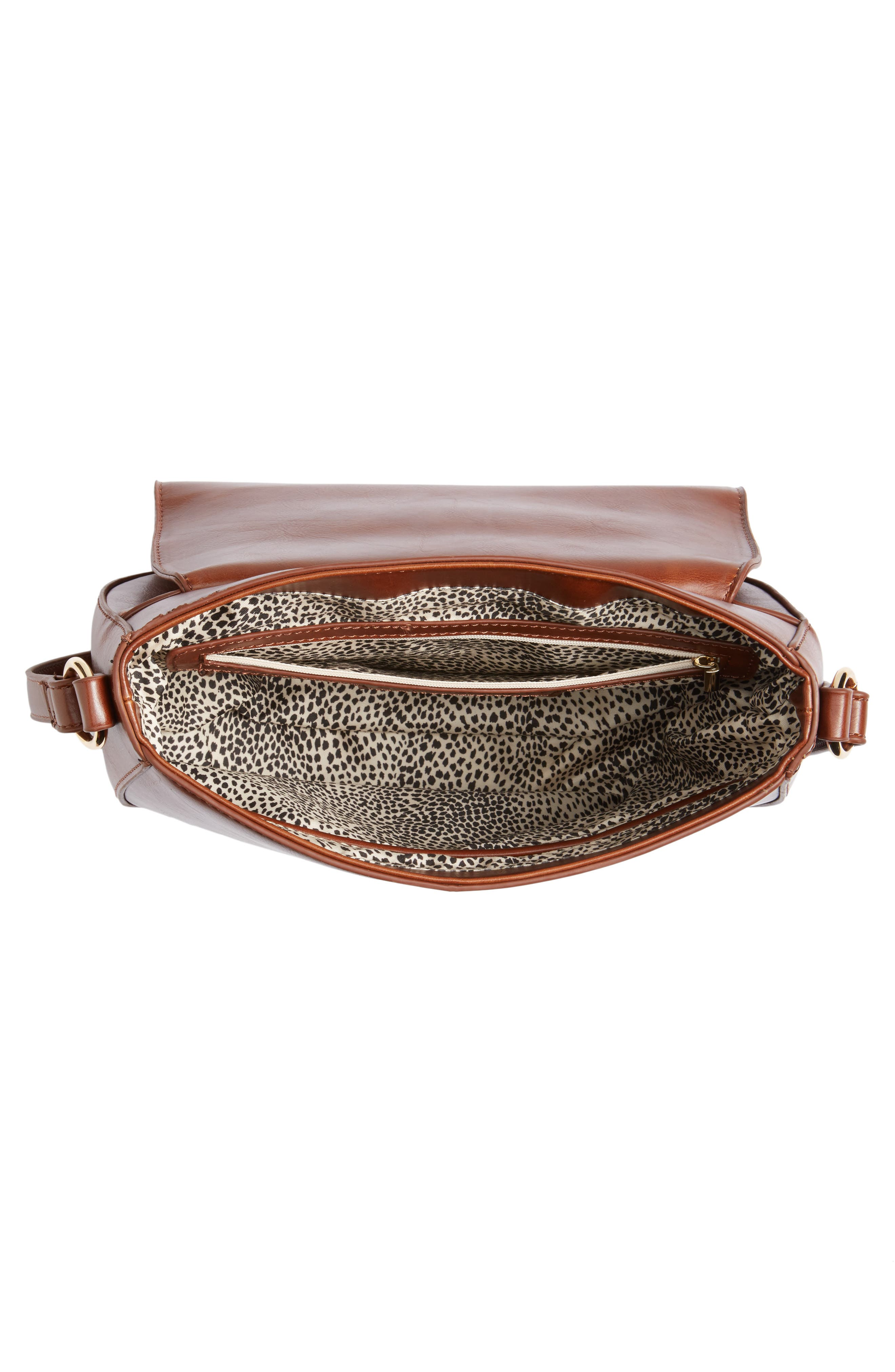 Piri Faux Leather Saddle Bag,                             Alternate thumbnail 12, color,