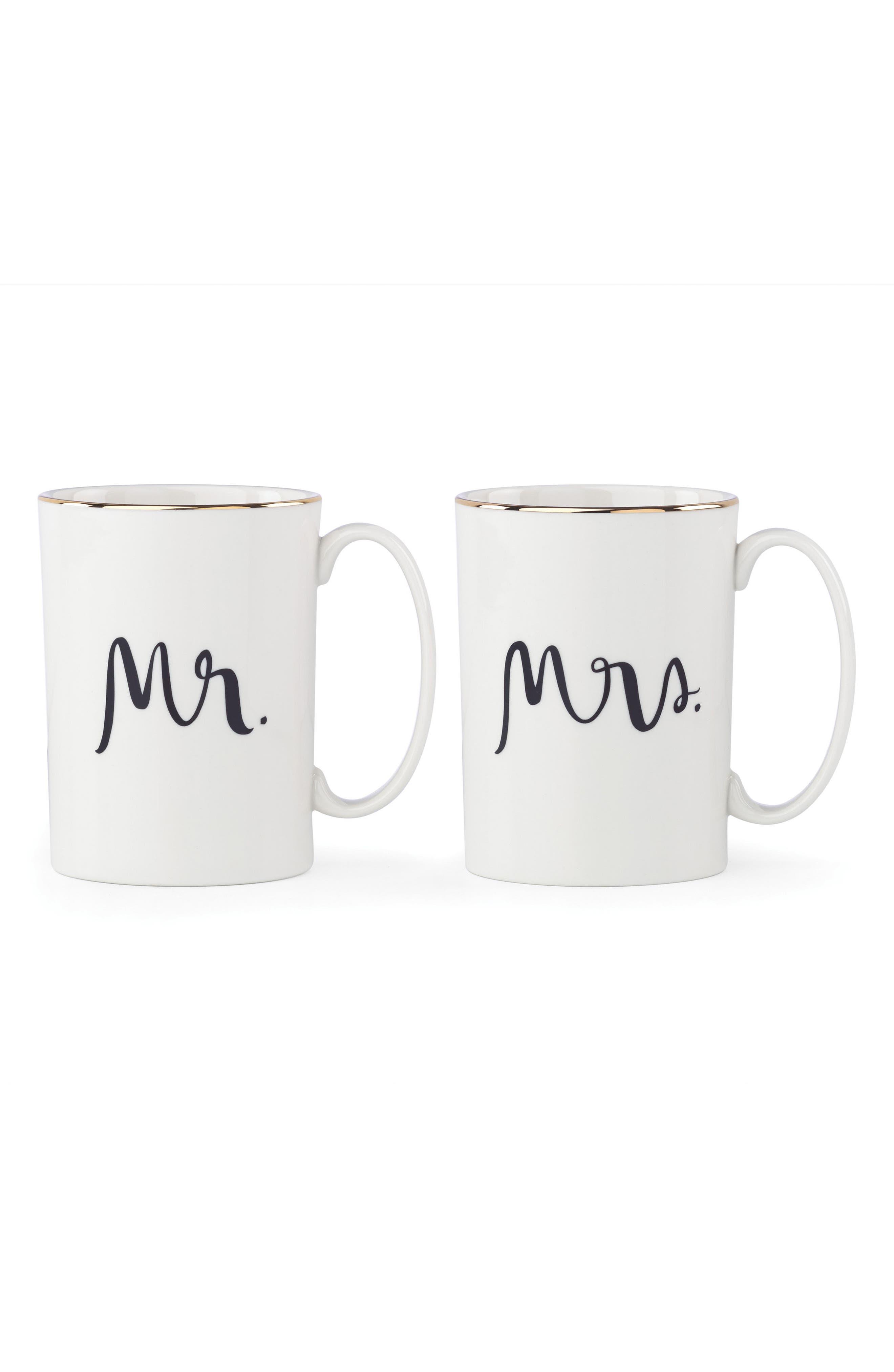 mr/mrs set of 2 mugs,                             Main thumbnail 1, color,                             100