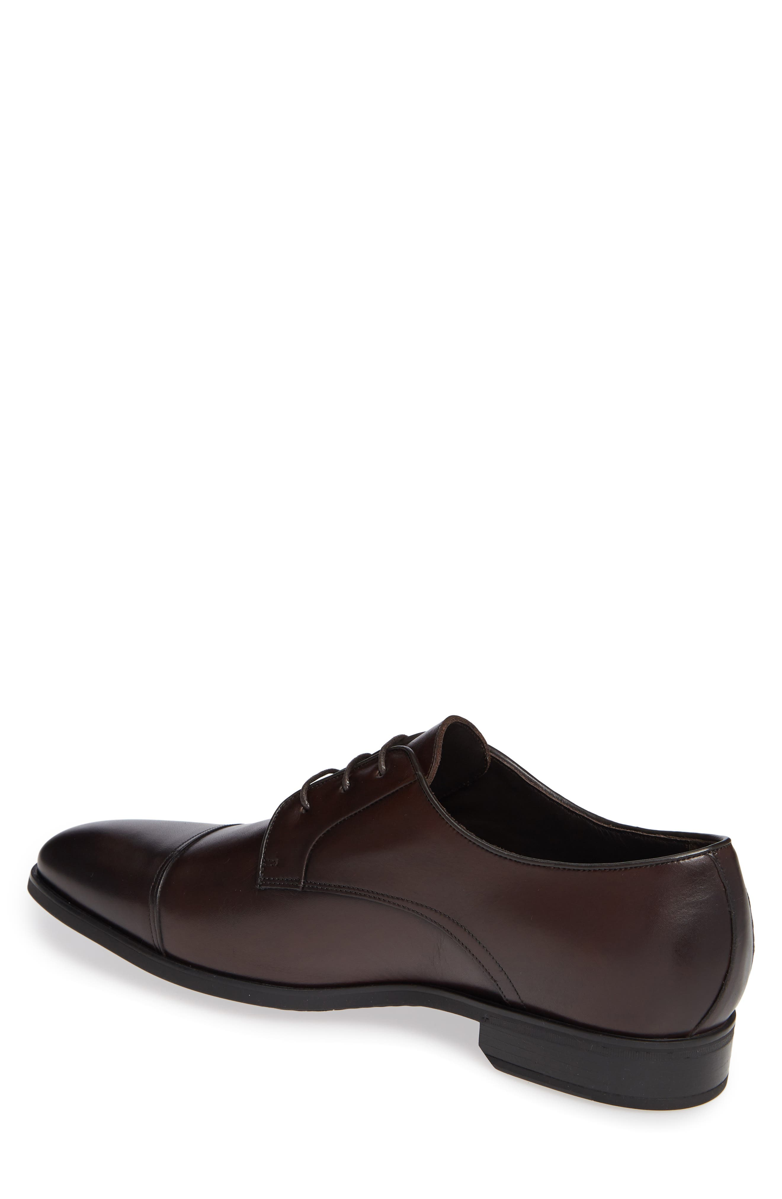 Aberdeen Cap Toe Derby,                             Alternate thumbnail 2, color,                             BERRY/ TMORO LEATHER