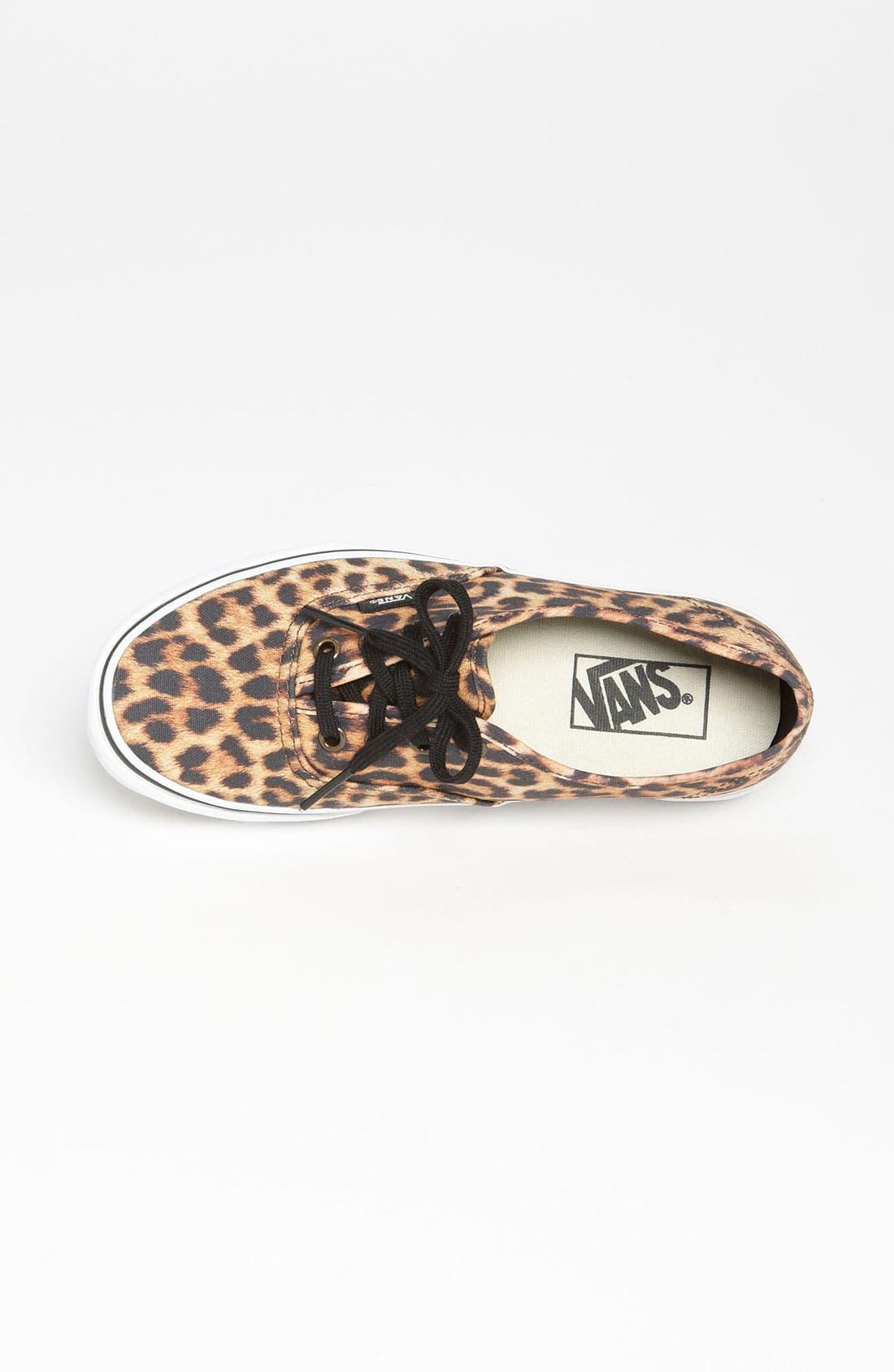 'Authentic - Leopard' Sneaker,                             Alternate thumbnail 3, color,                             200