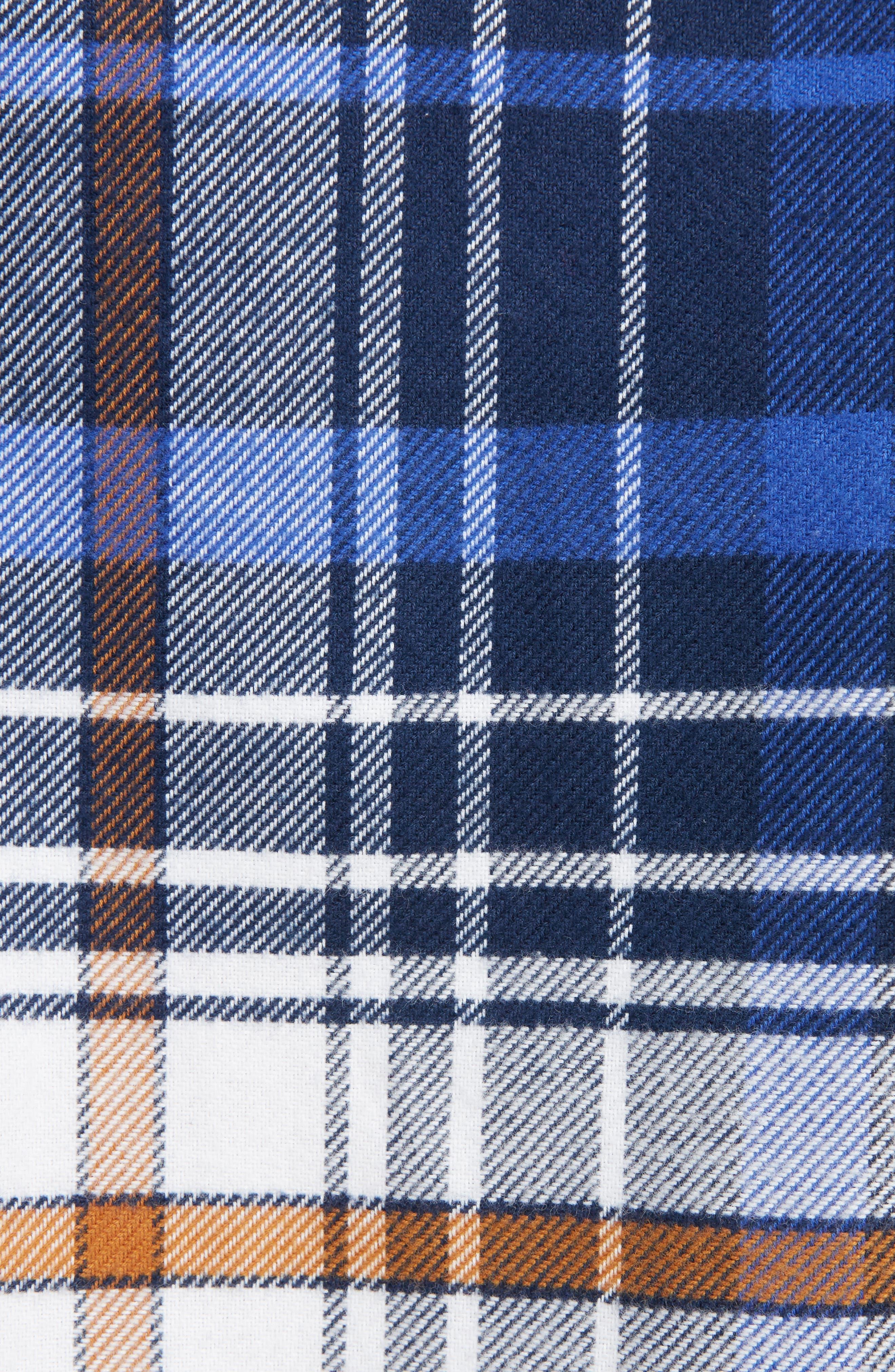 Cuban Fit Pieced Flannel Shirt,                             Alternate thumbnail 2, color,                             400