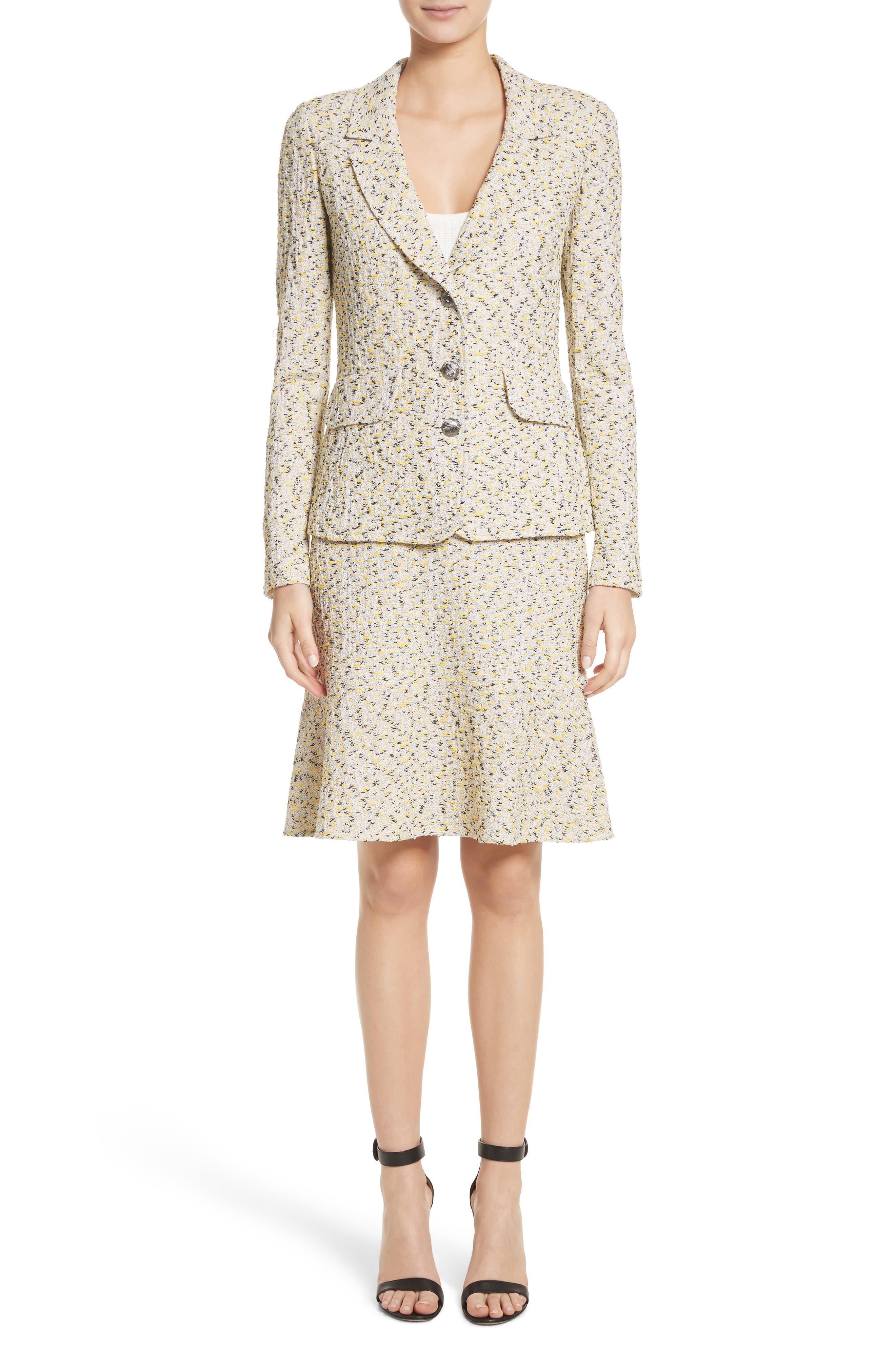 Romee Tweed Fit & Flare Skirt,                             Alternate thumbnail 7, color,                             730