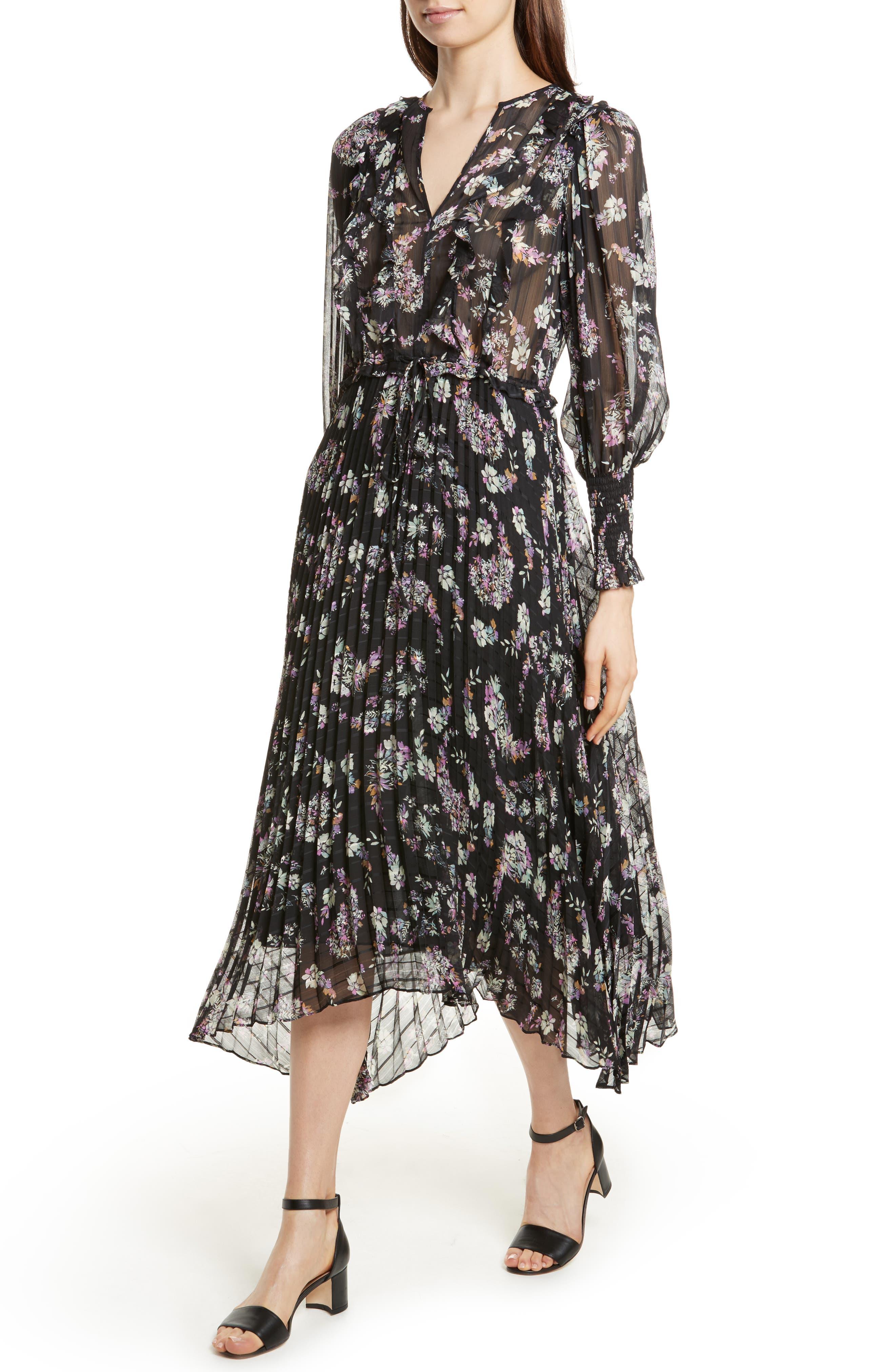 Jewel Paisley Dress,                             Alternate thumbnail 4, color,                             014