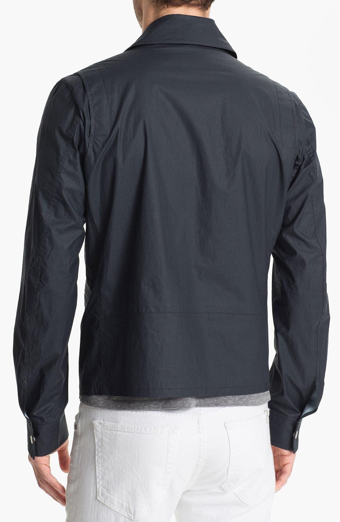 Cotton Canvas Moto Jacket,                             Alternate thumbnail 2, color,                             477