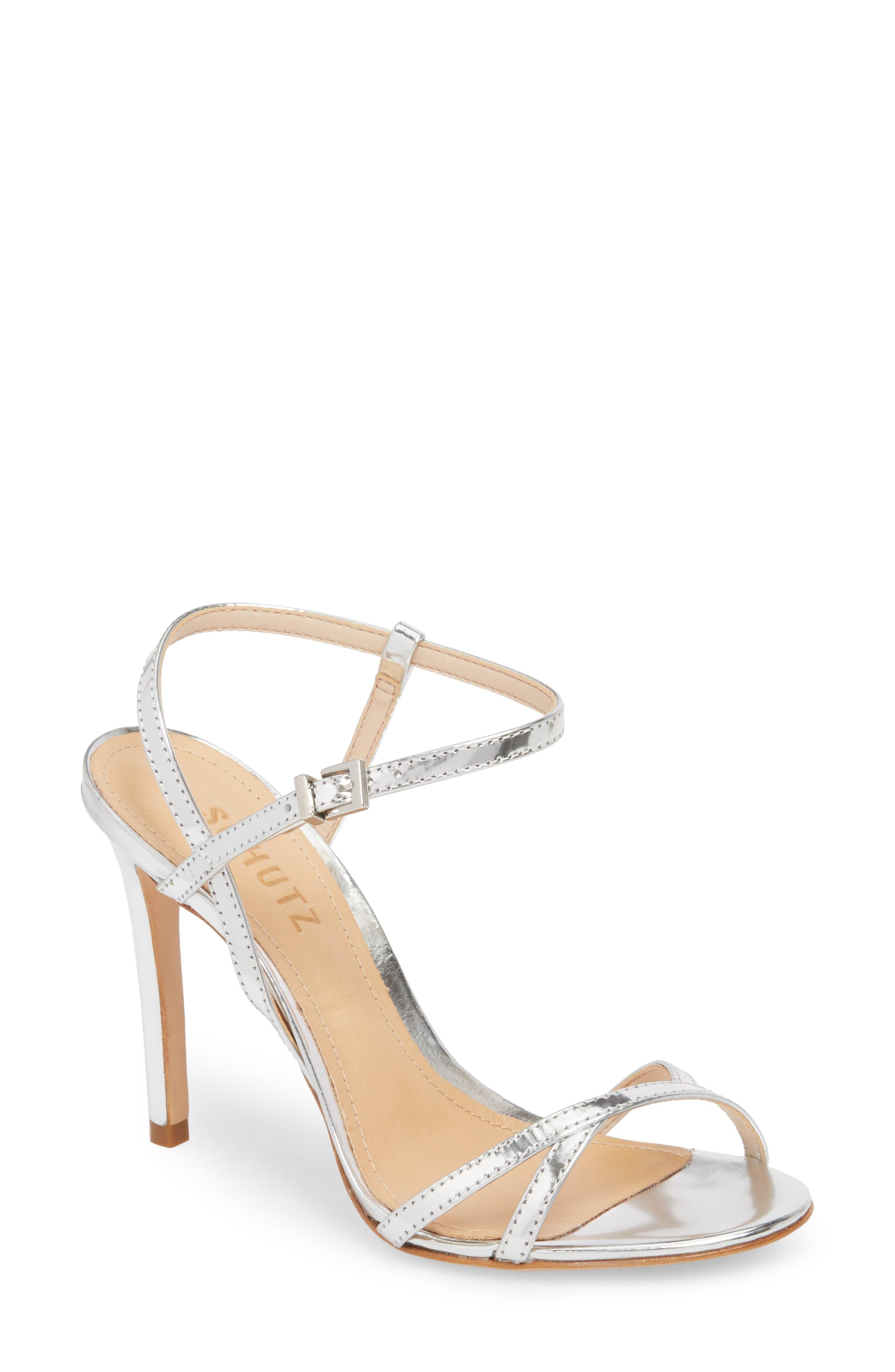 Opal Sandal,                         Main,                         color, PRATA LEATHER