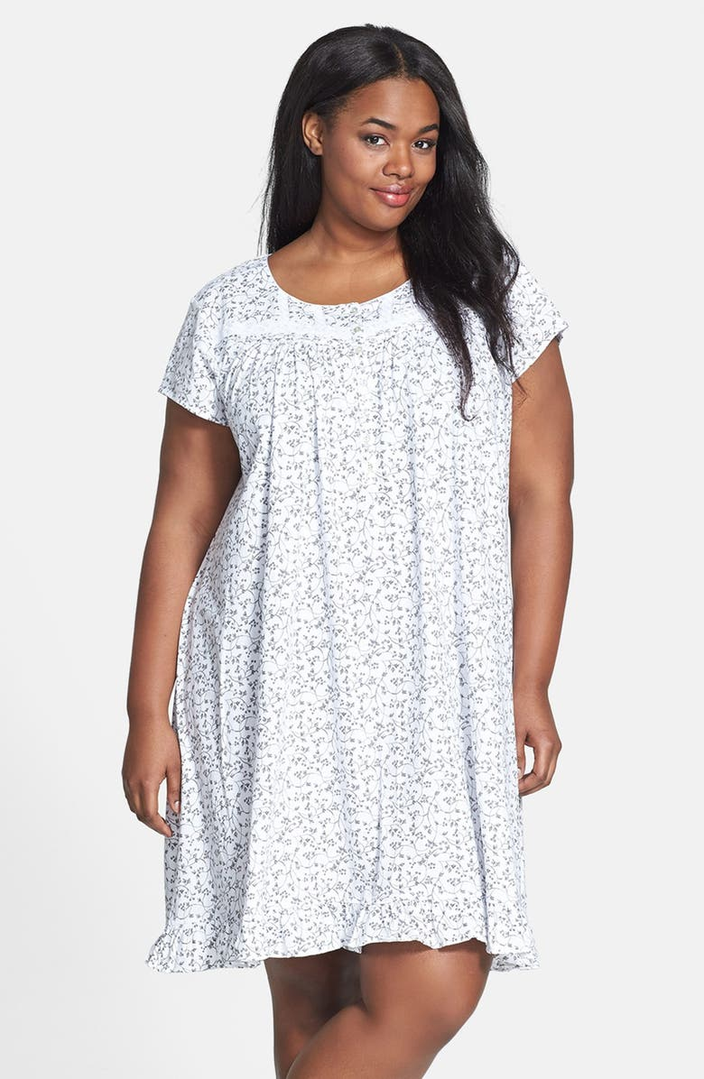 Eileen West \'Perfect Verse\' Pima Cotton Nightgown (Plus Size ...