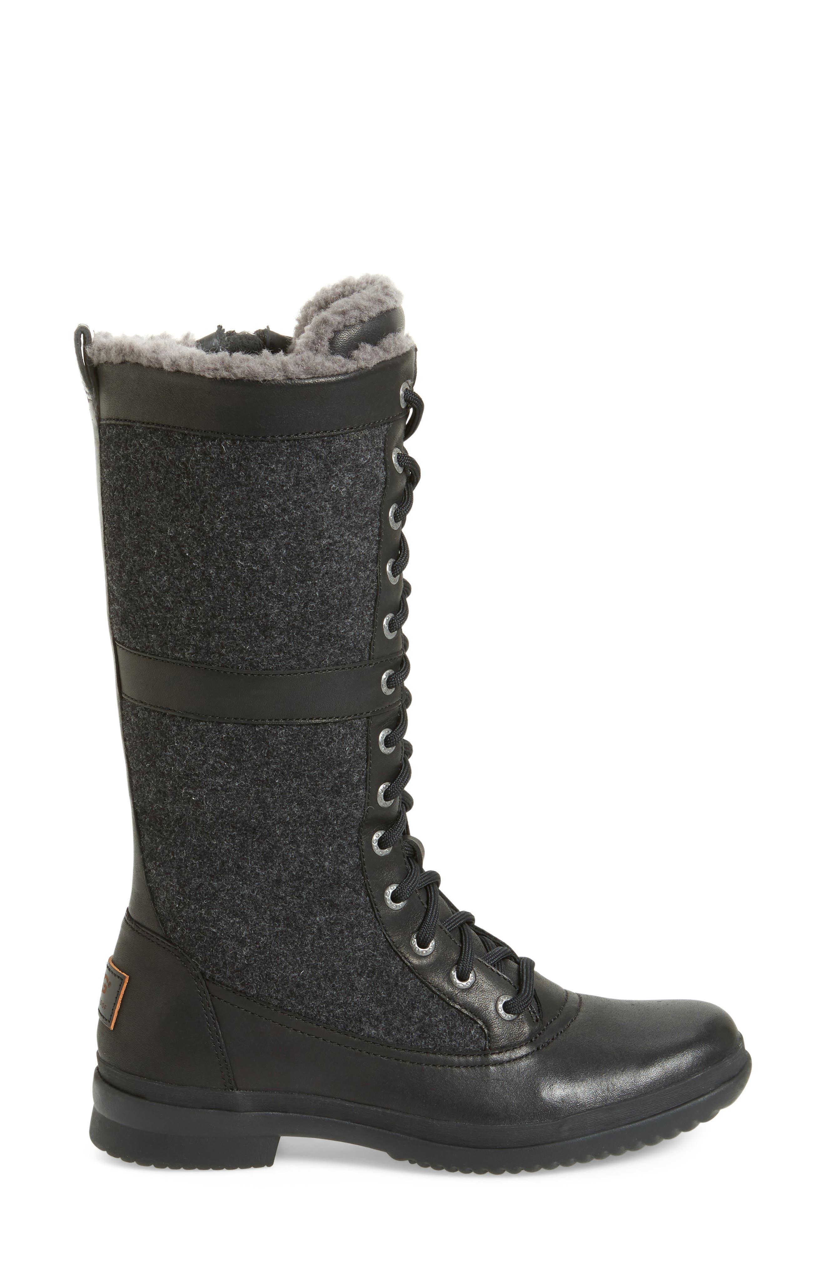 Elvia Waterproof Tall Boot,                             Alternate thumbnail 3, color,                             001