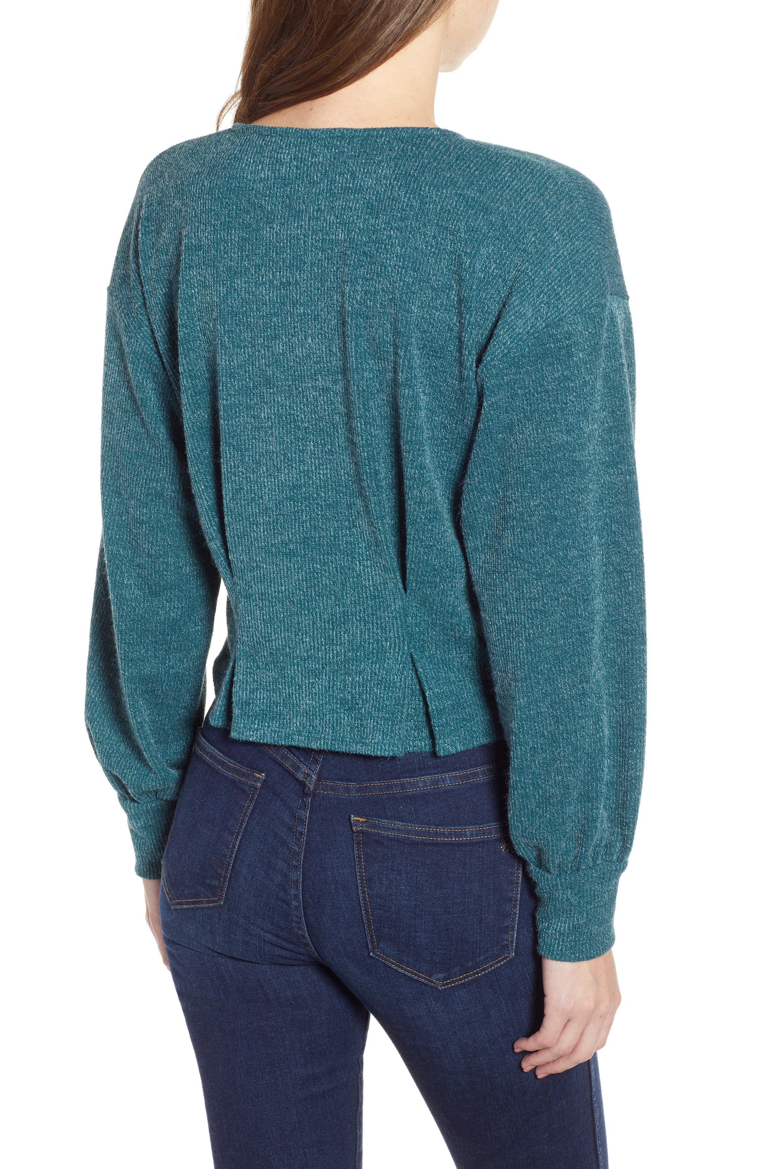 Wrap Sweater,                             Alternate thumbnail 2, color,                             TEAL
