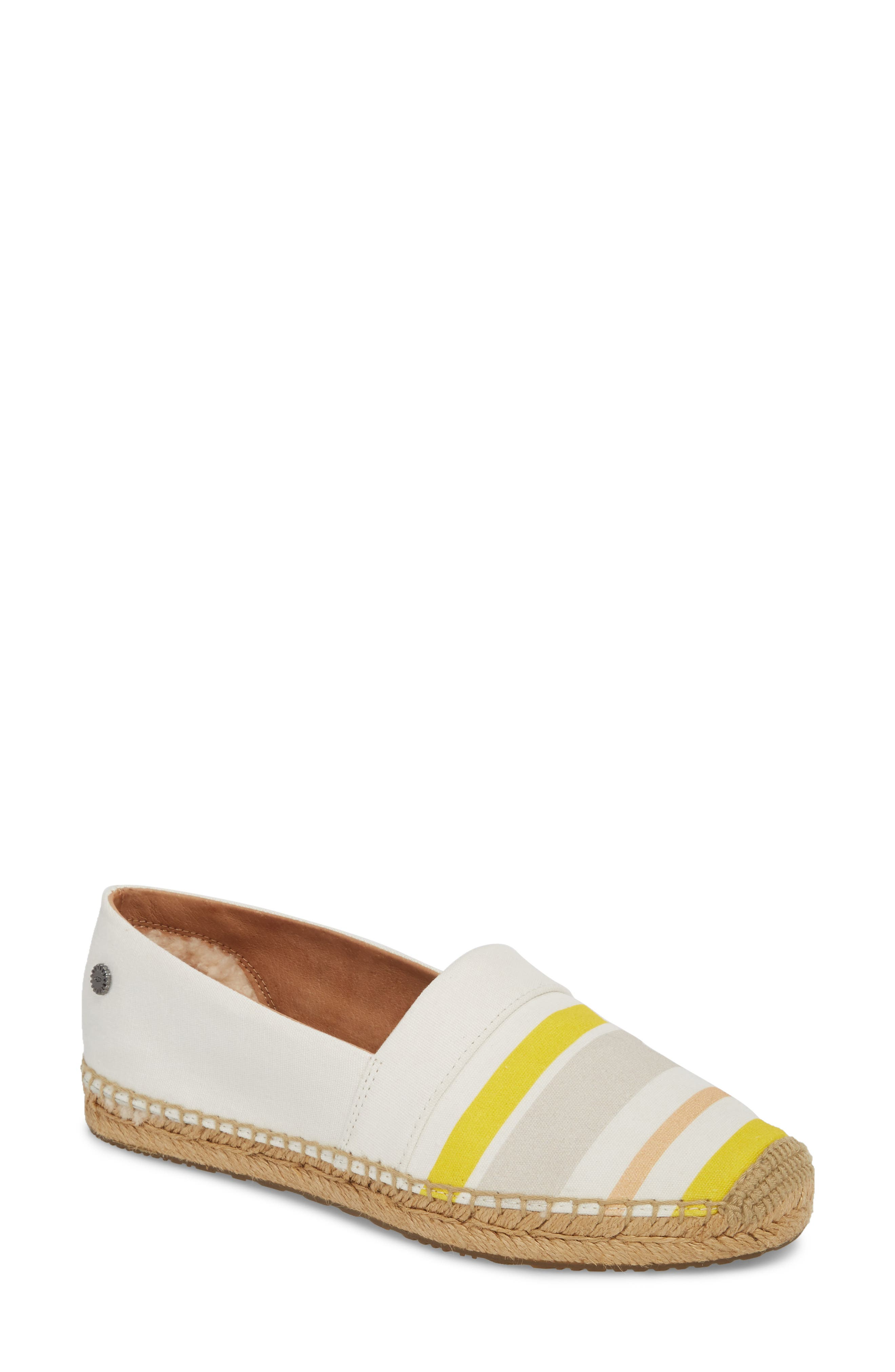 Reneda Stripe Espadrille Flat,                             Main thumbnail 1, color,                             100