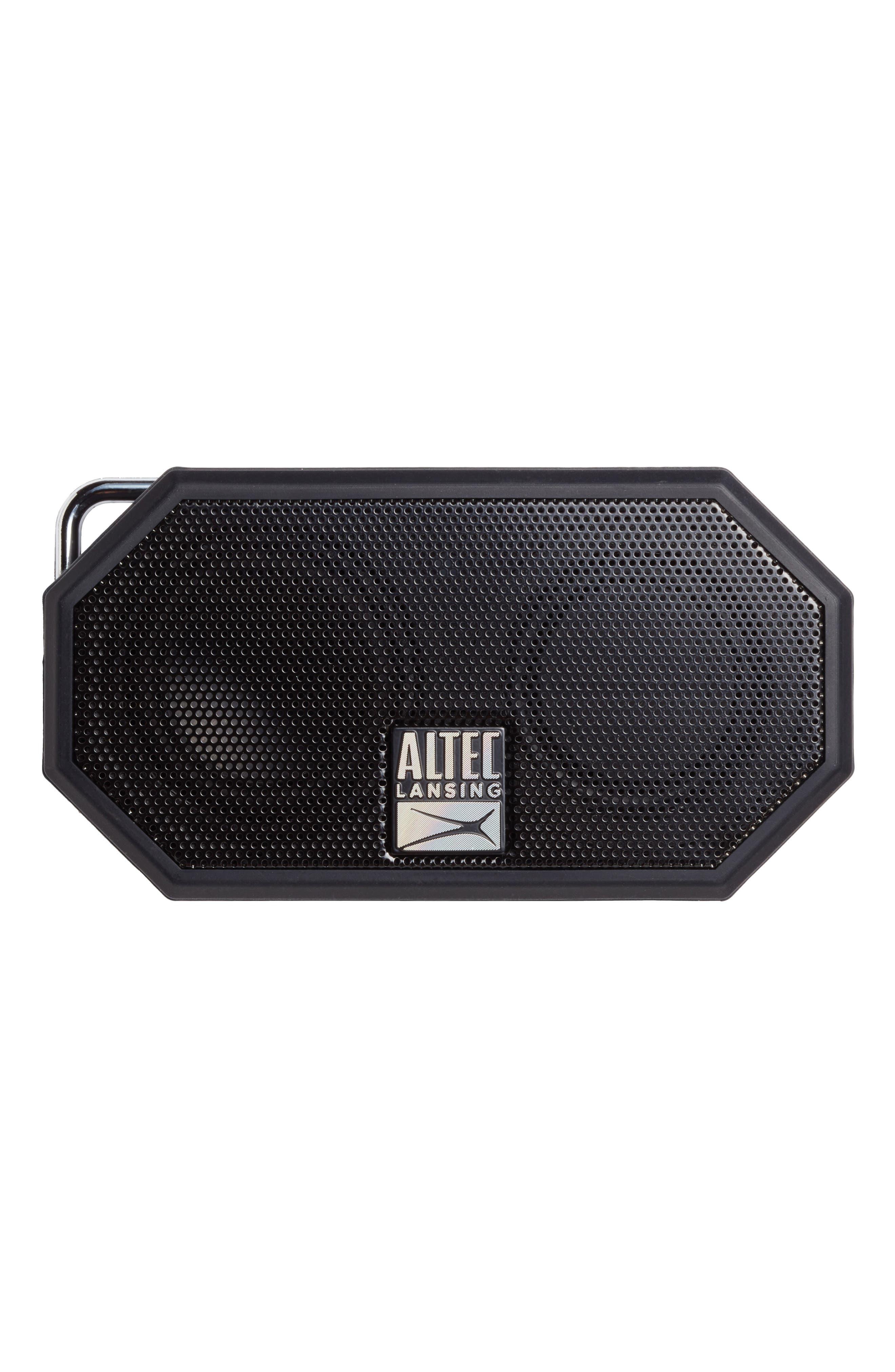 Mini H2O 3 Bluetooth<sup>®</sup> Speaker,                             Main thumbnail 1, color,                             BLACK