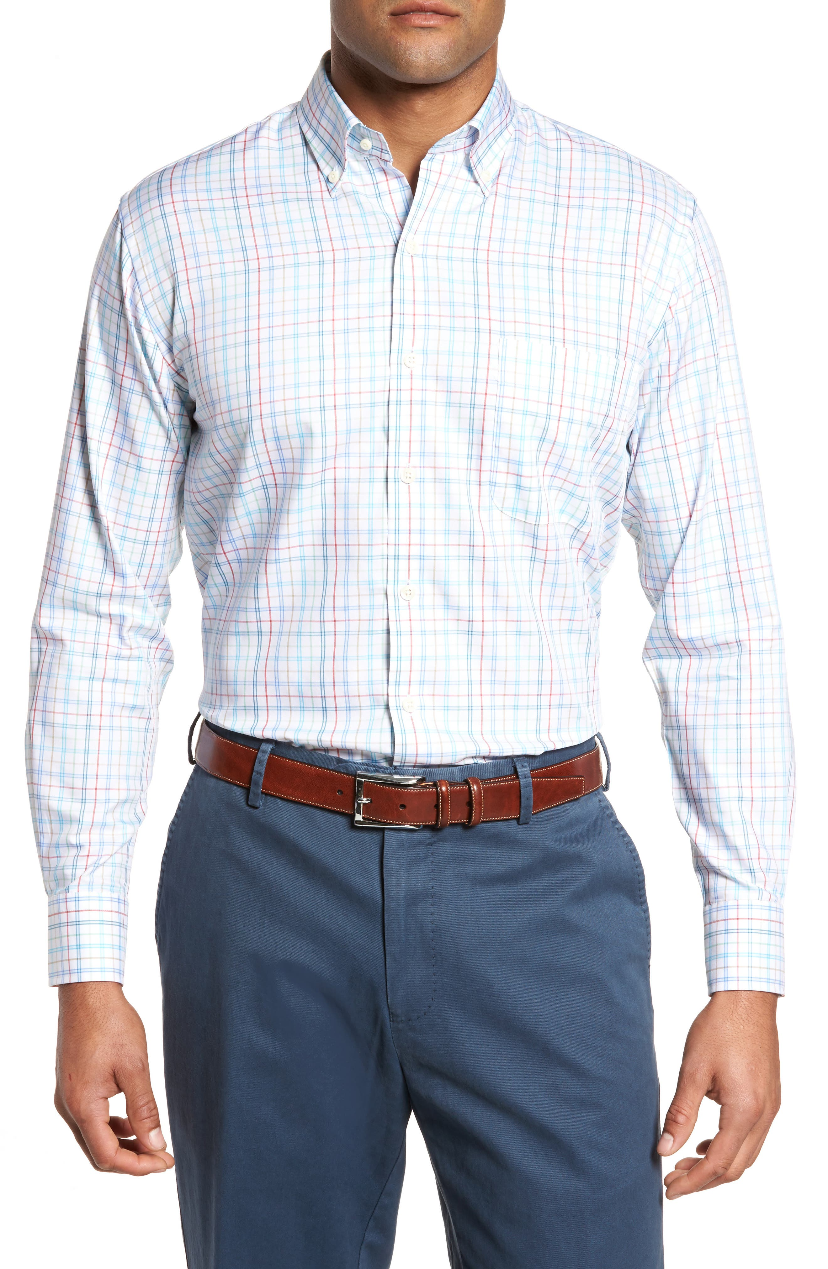 Classic Fit Crown Soft Honolulu Pinwheel Sport Shirt,                             Main thumbnail 1, color,
